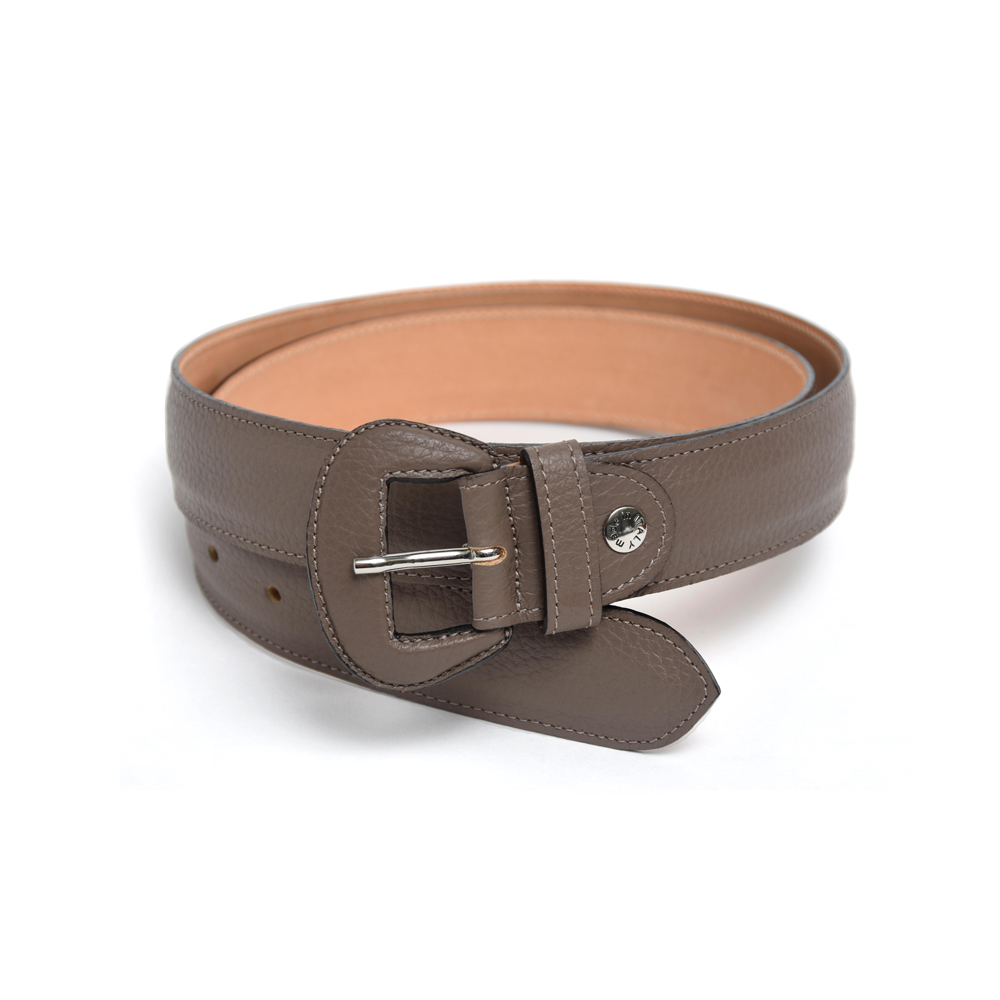 Wide Belt in Taupe