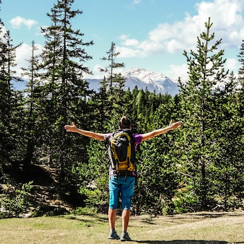 Sarah Hudson hiking in mountains conquering anxiety and depression