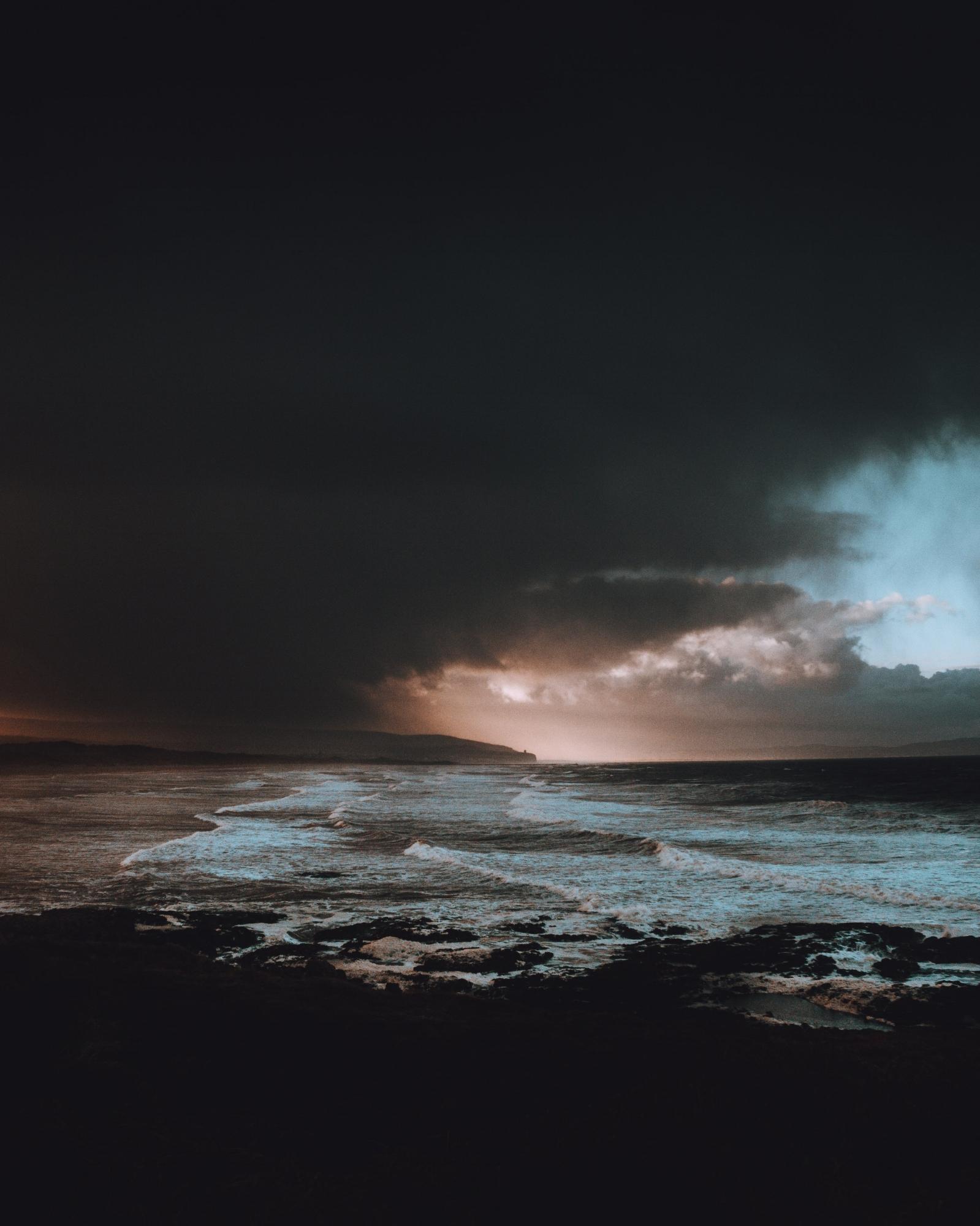 a cloudy landscape symbolizing depression