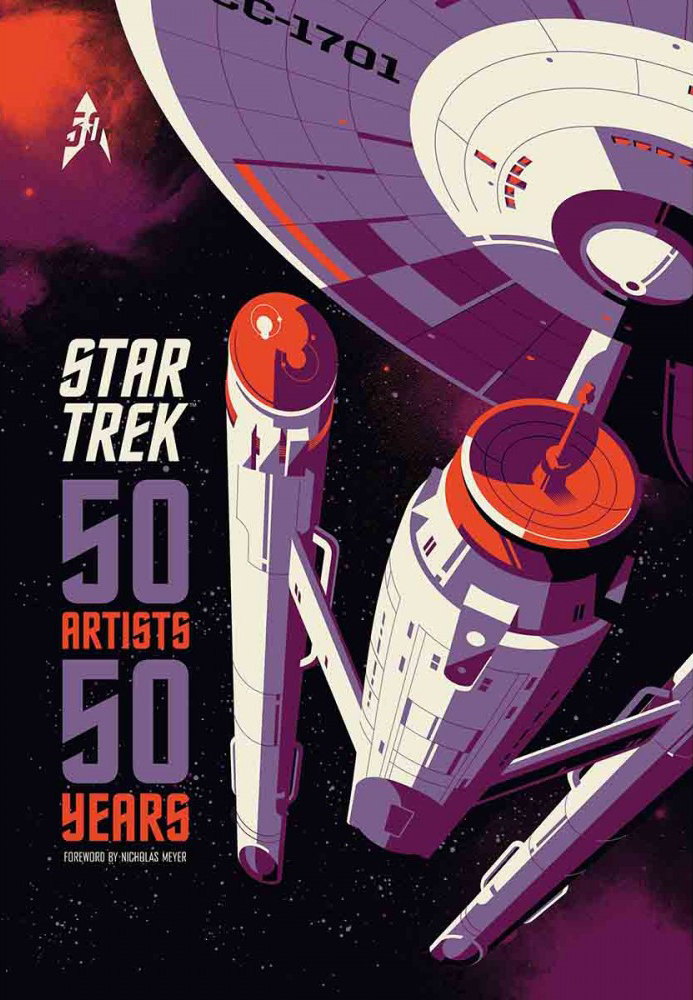Star Trek: 50 Artists 50 Years   To coincide with the 50th anniversary of the original Star Trek TV series, CBS Consumer Products have commissioned a series of art pieces to celebrate moments, characters, storylines and episodes from the franchise. Artists from around the world as well as famous fans have contributed lovingly made posters, photos, sculptures, comic strips, textiles and much more to commemorate this beloved show. Foreword by Nicholas Meyer.