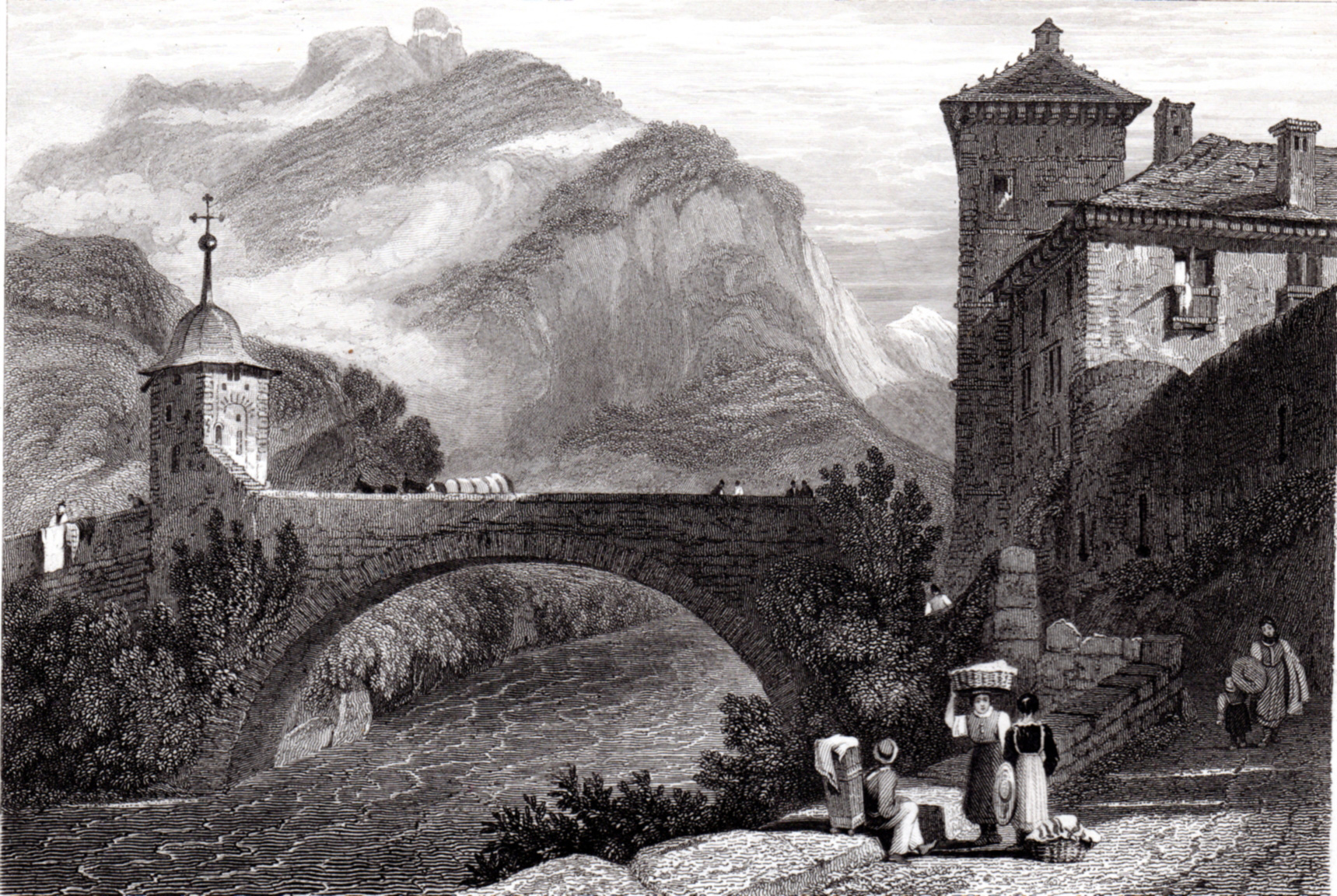 Switzerland misc. antique prints