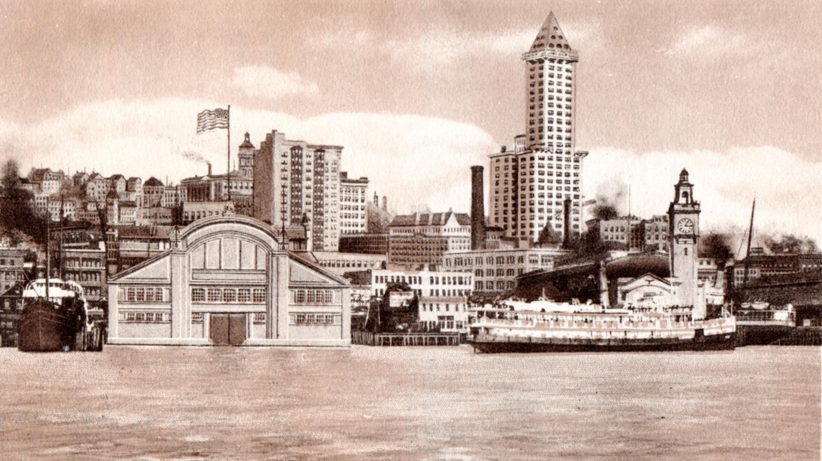 Seattle, Washington antique prints