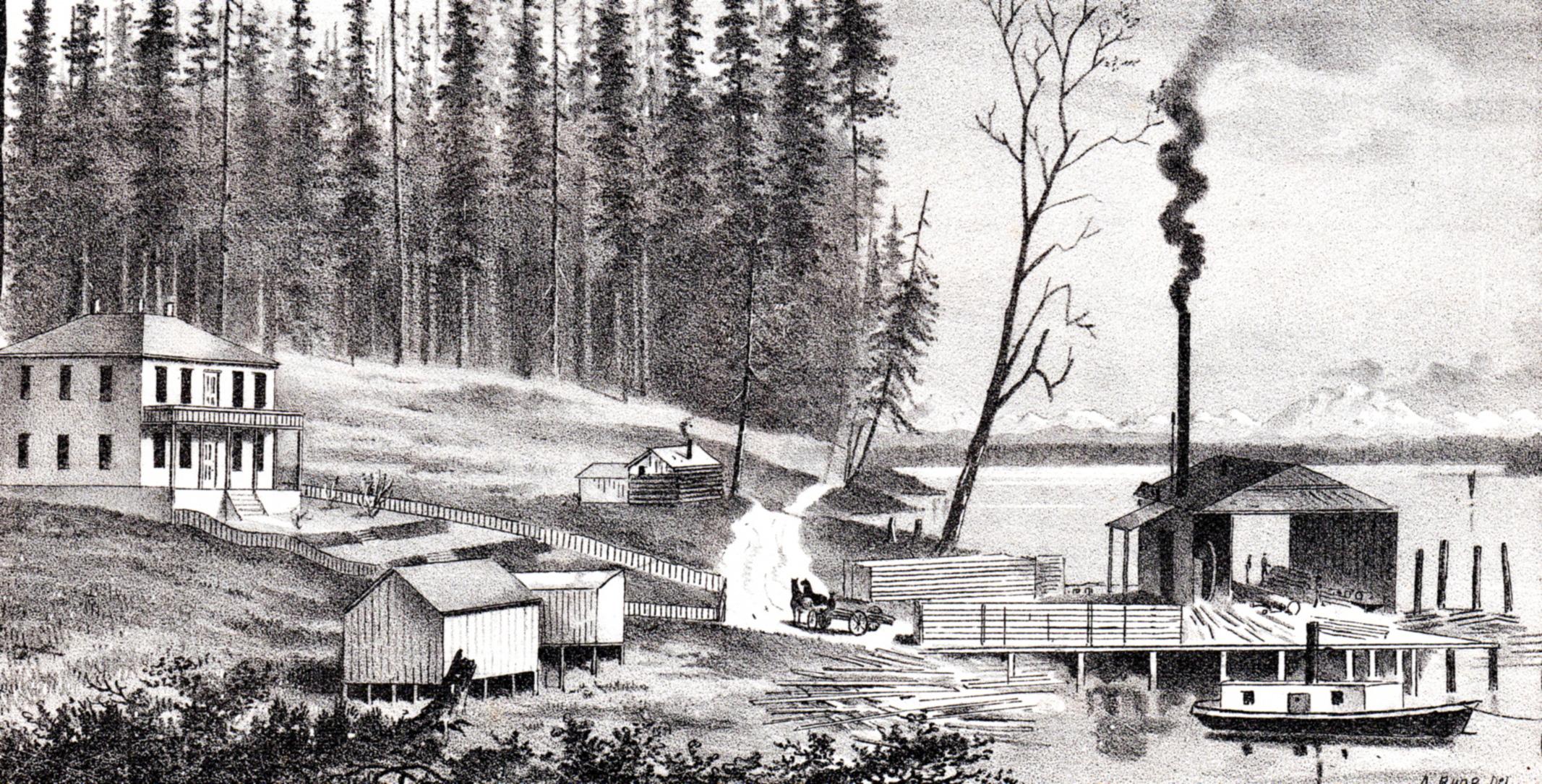 Antique prints of Seattle, Washington from West Shore Magazine