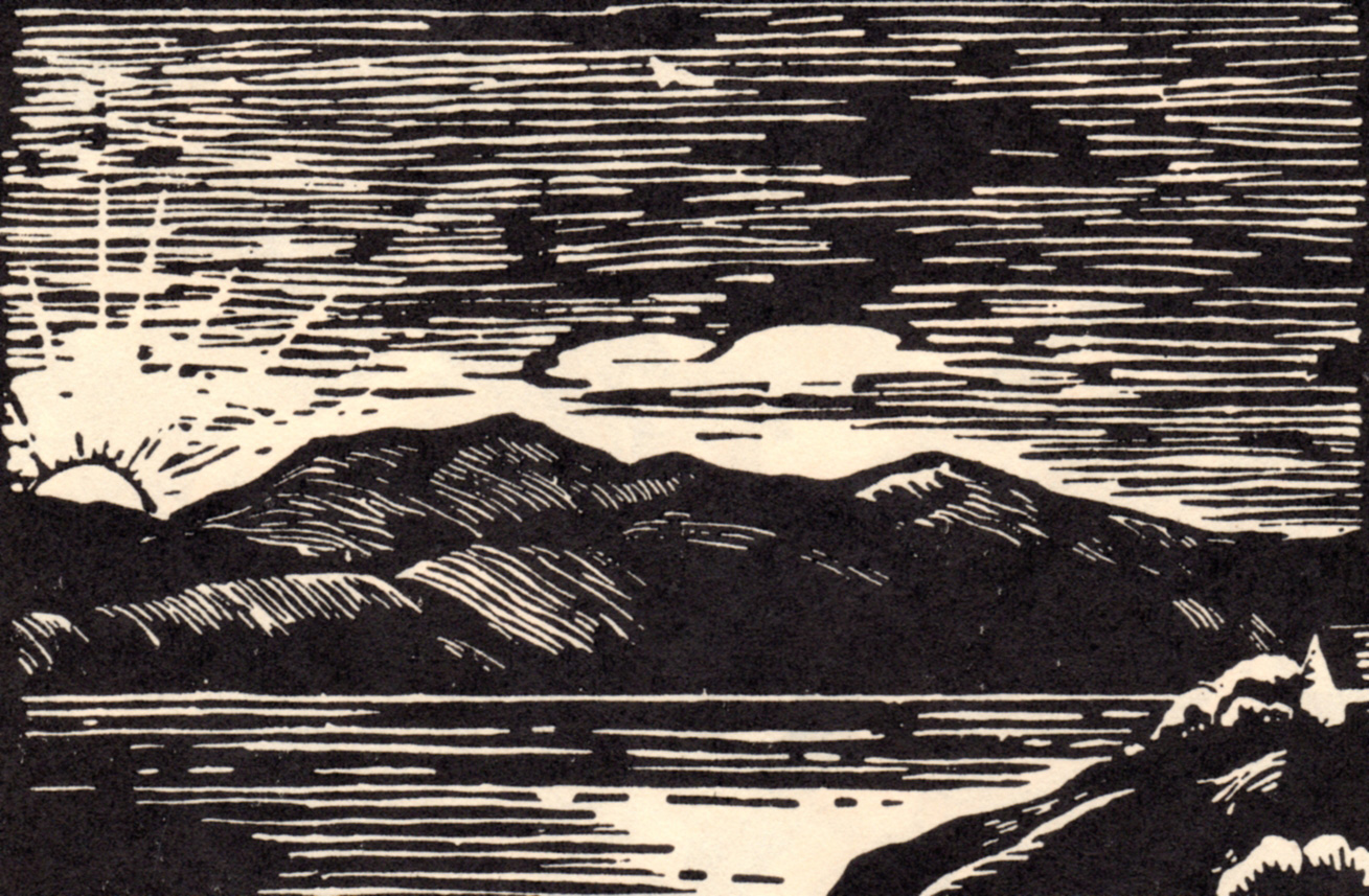Victoria, B.C. woodcuts by Viola Patterson