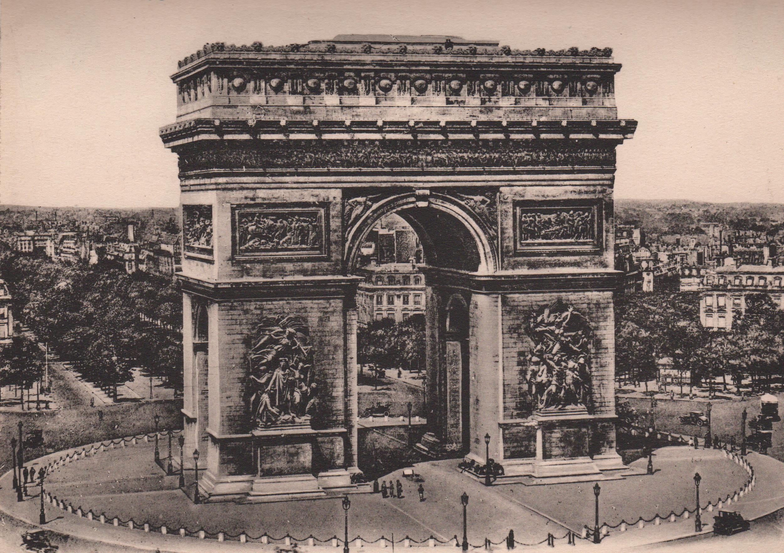 Antique photogravures of Paris & Versailles