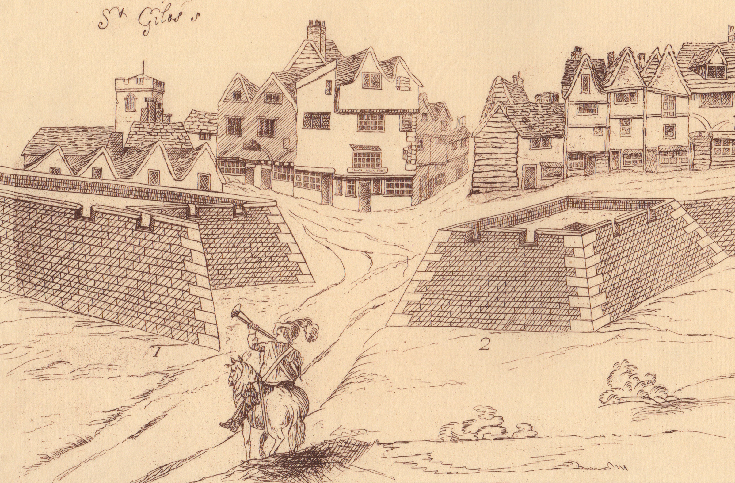 'Eyre's Fortifications of London, 1643' (1852)