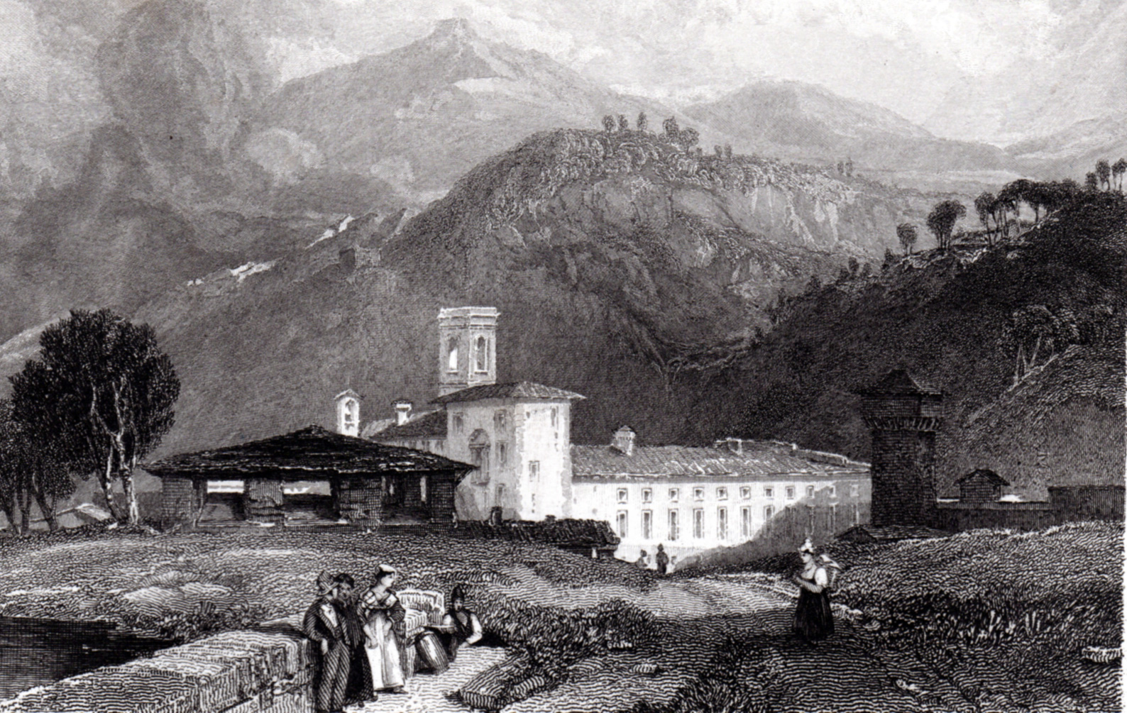 Miscellaneous antique prints of Italy