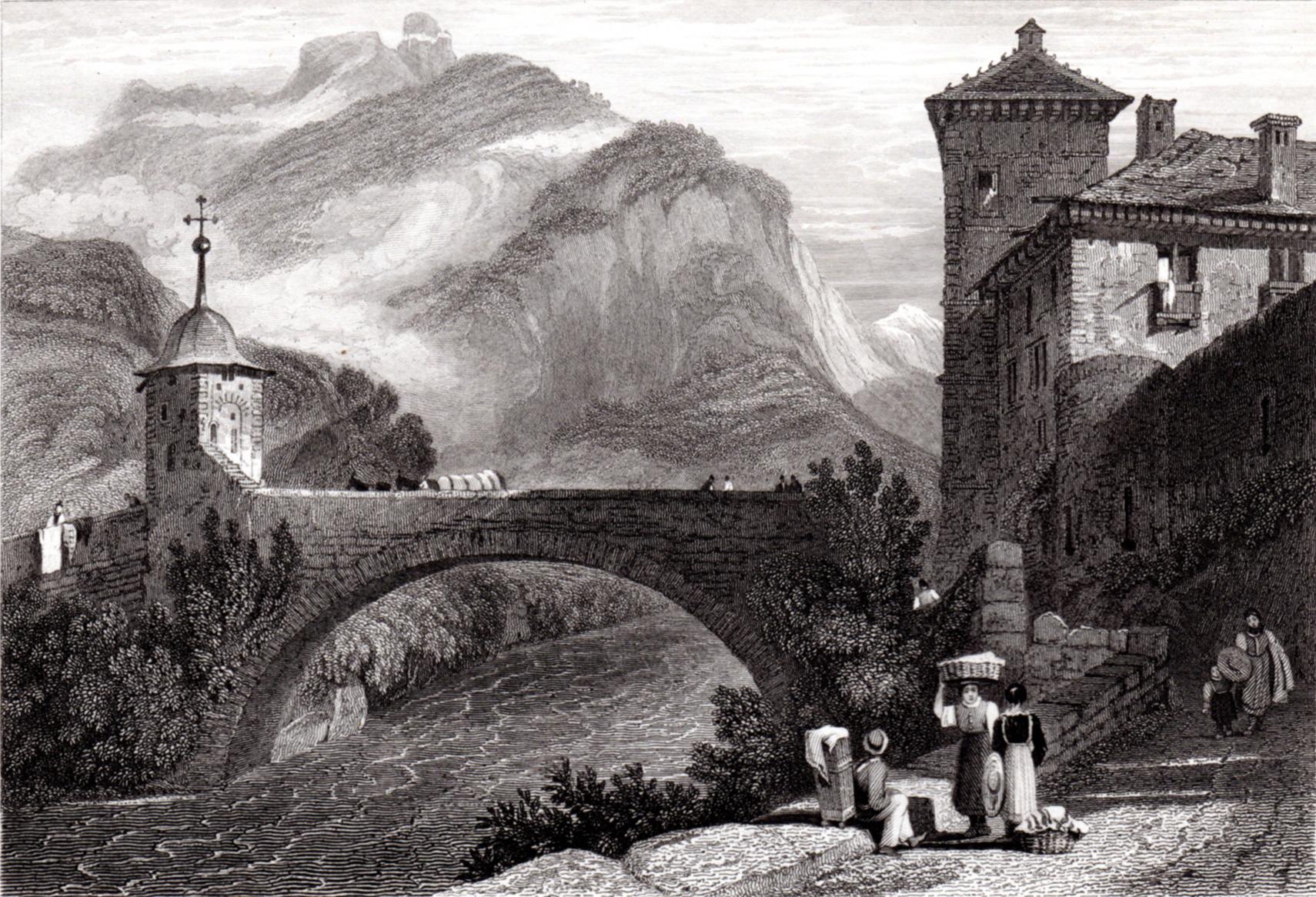 Miscellaneous antique prints of Switzerland