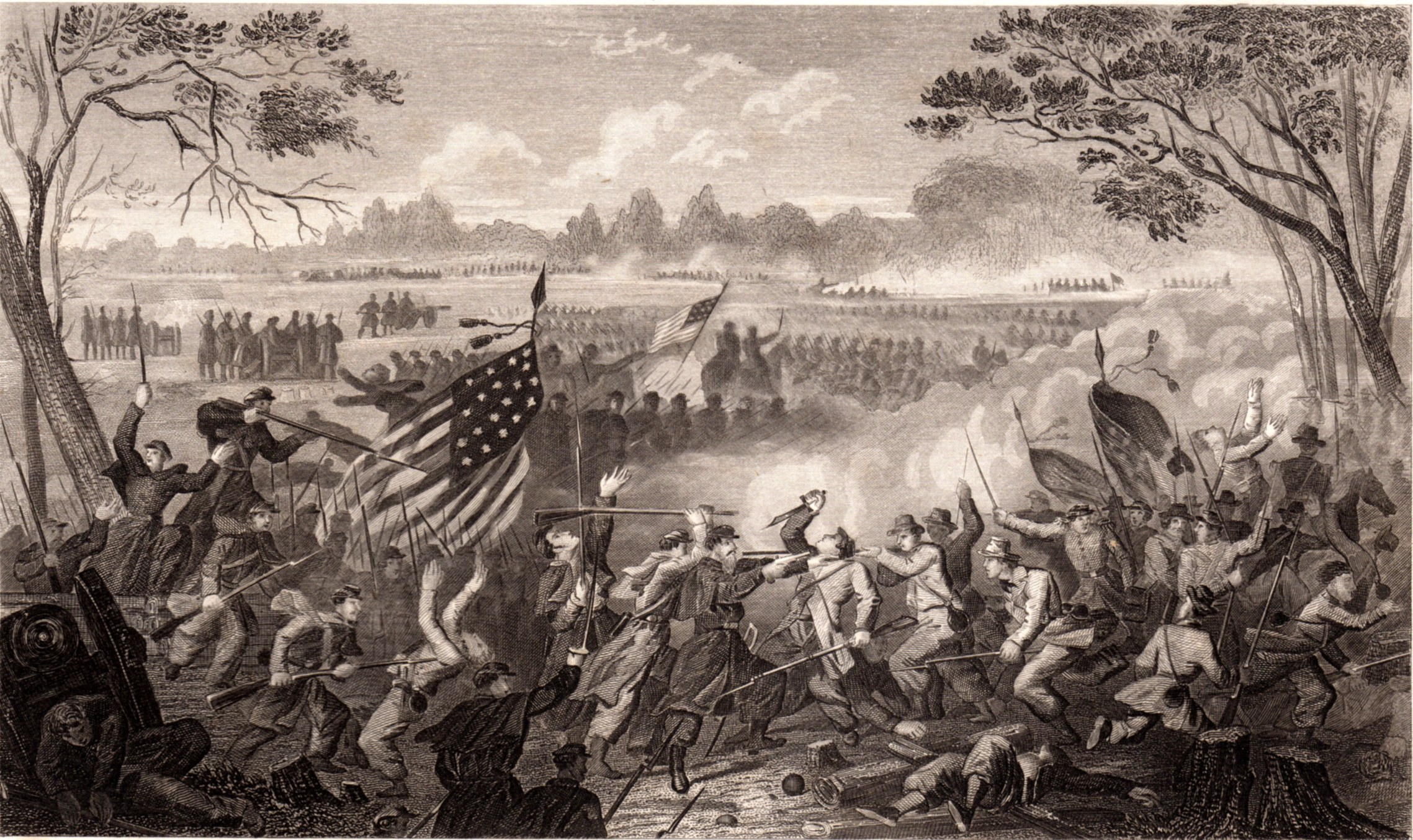 US Civil War scenes and portraits