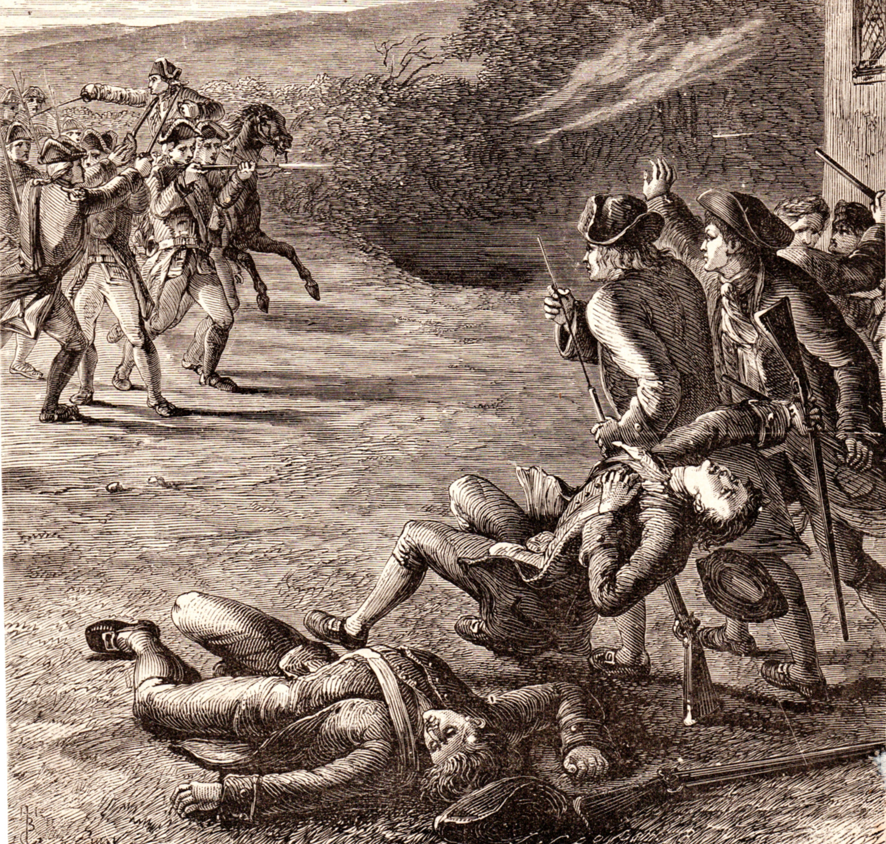 US Revolutionary War scenes and portraits
