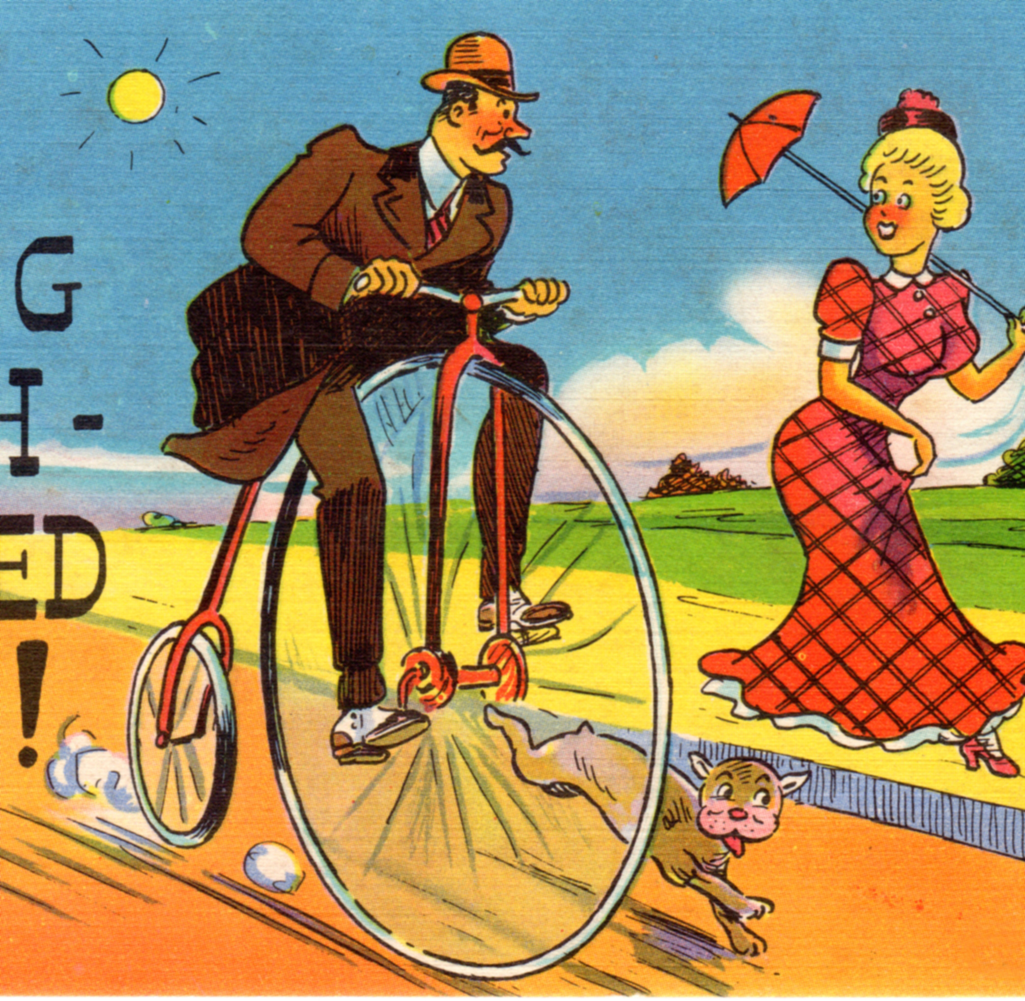 Vintage humorous postcards