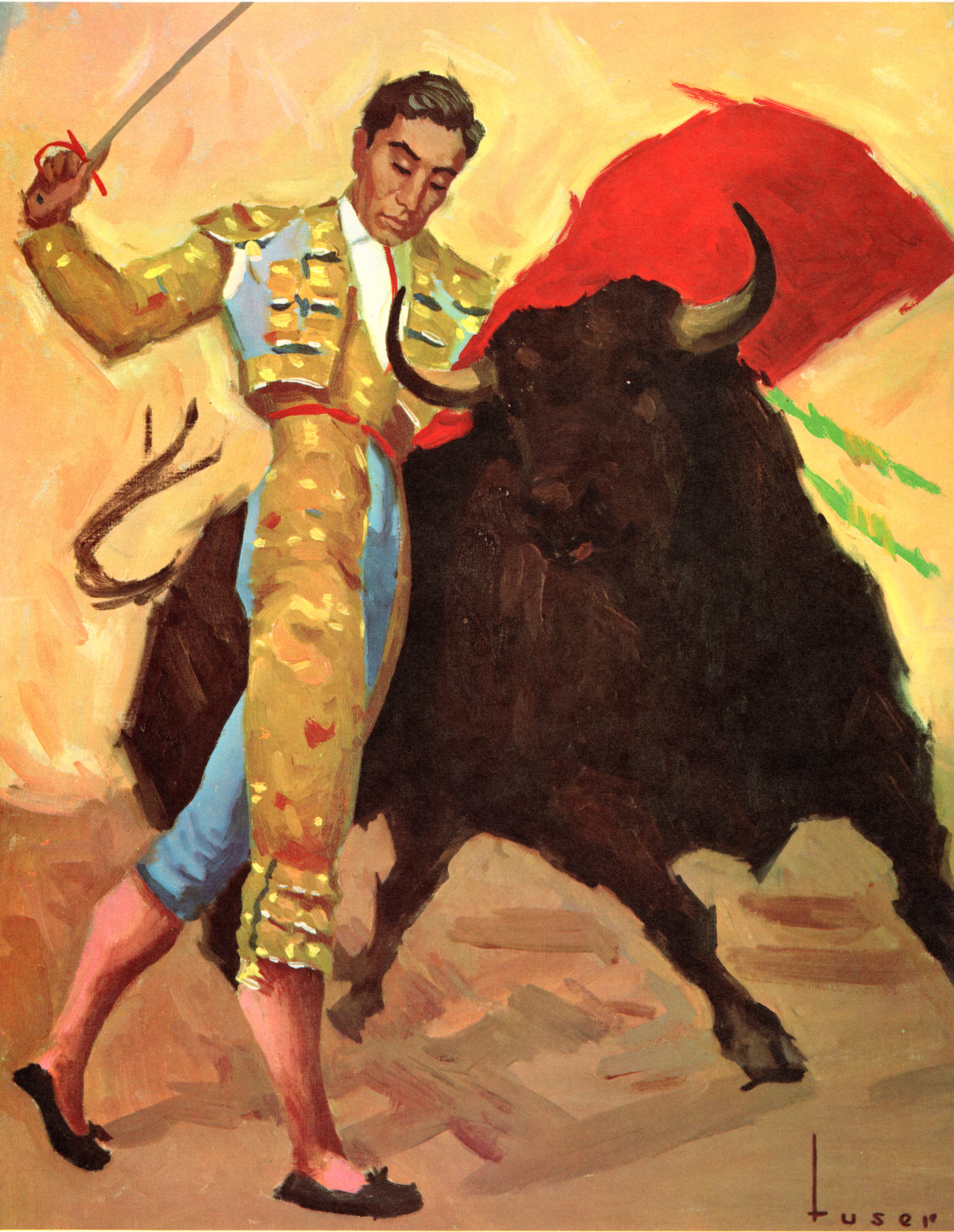 Bullfighting, Matadors vintage prints