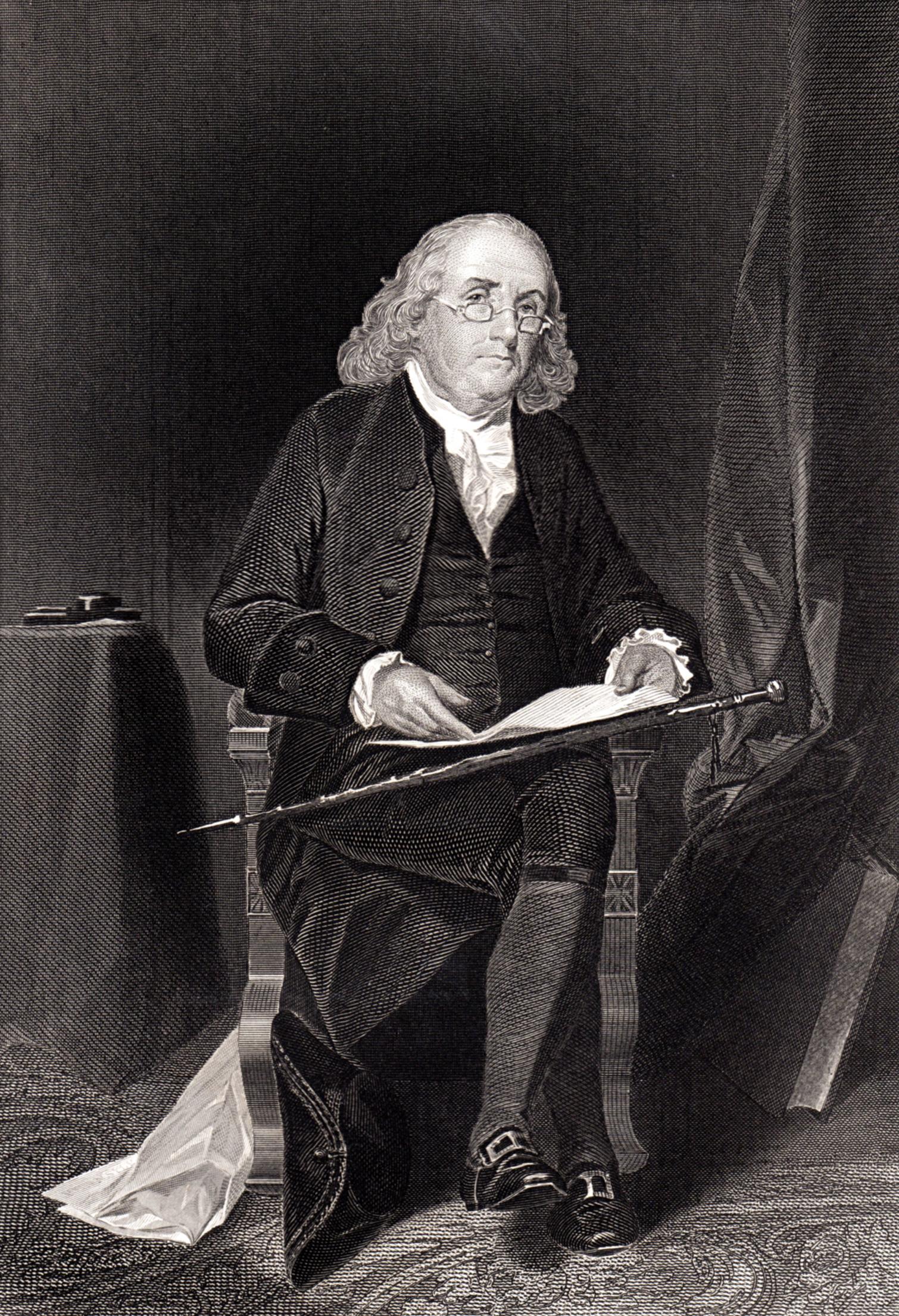 Portraits of famous authors, philosophers, inventors, etc