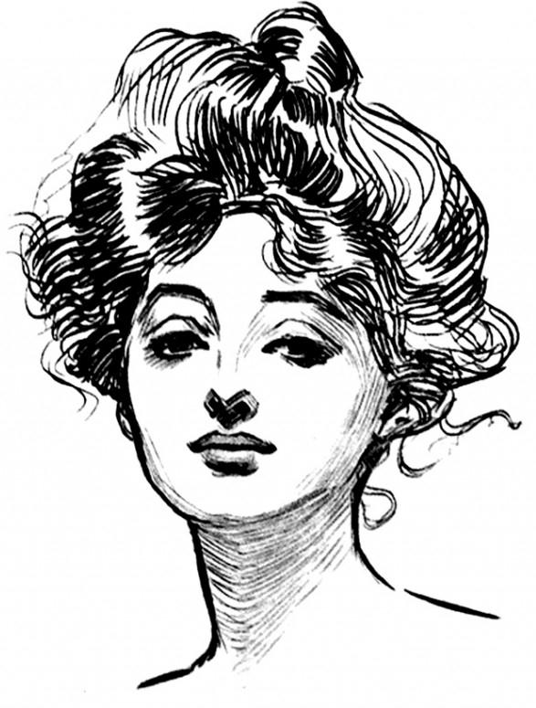 Drawings of Charles Dana Gibson (1894-1908)