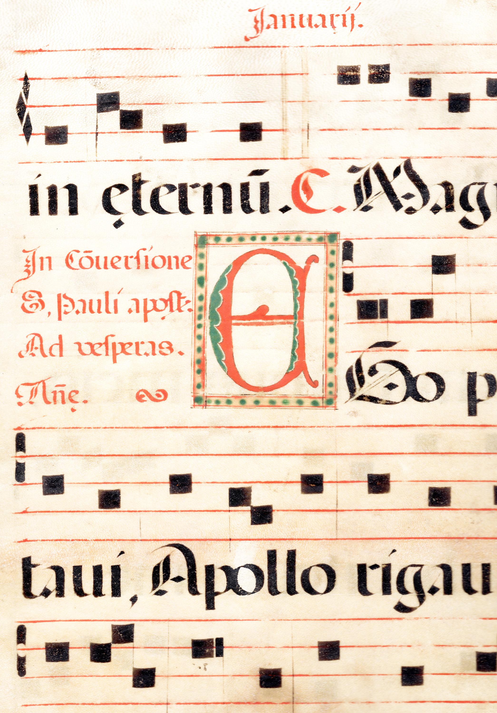 Antiphonal vellum hymnal music (1450-1549)