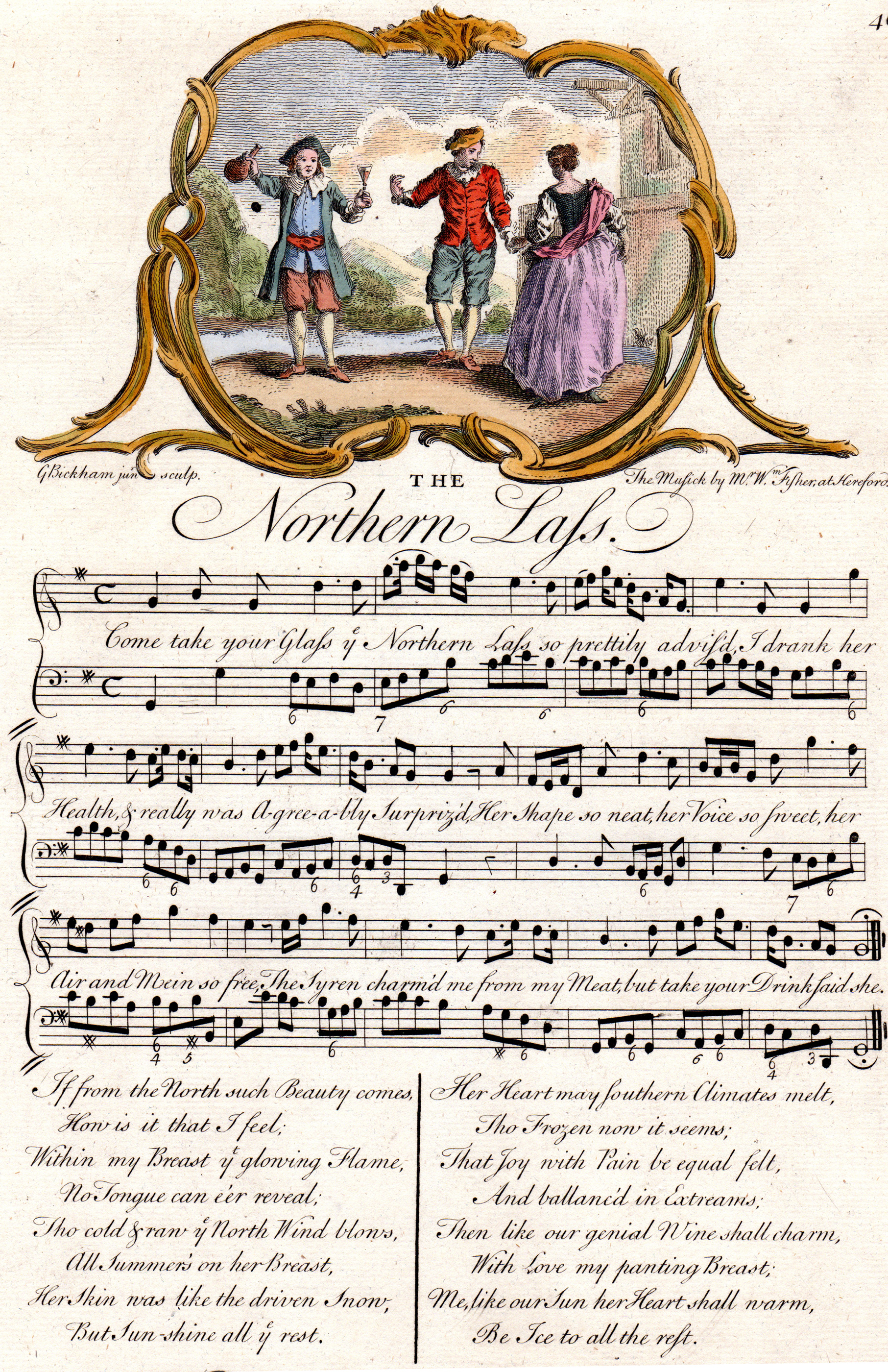 Antique Sheet Music  from The Musical Entertainer (London, 1737-1740)