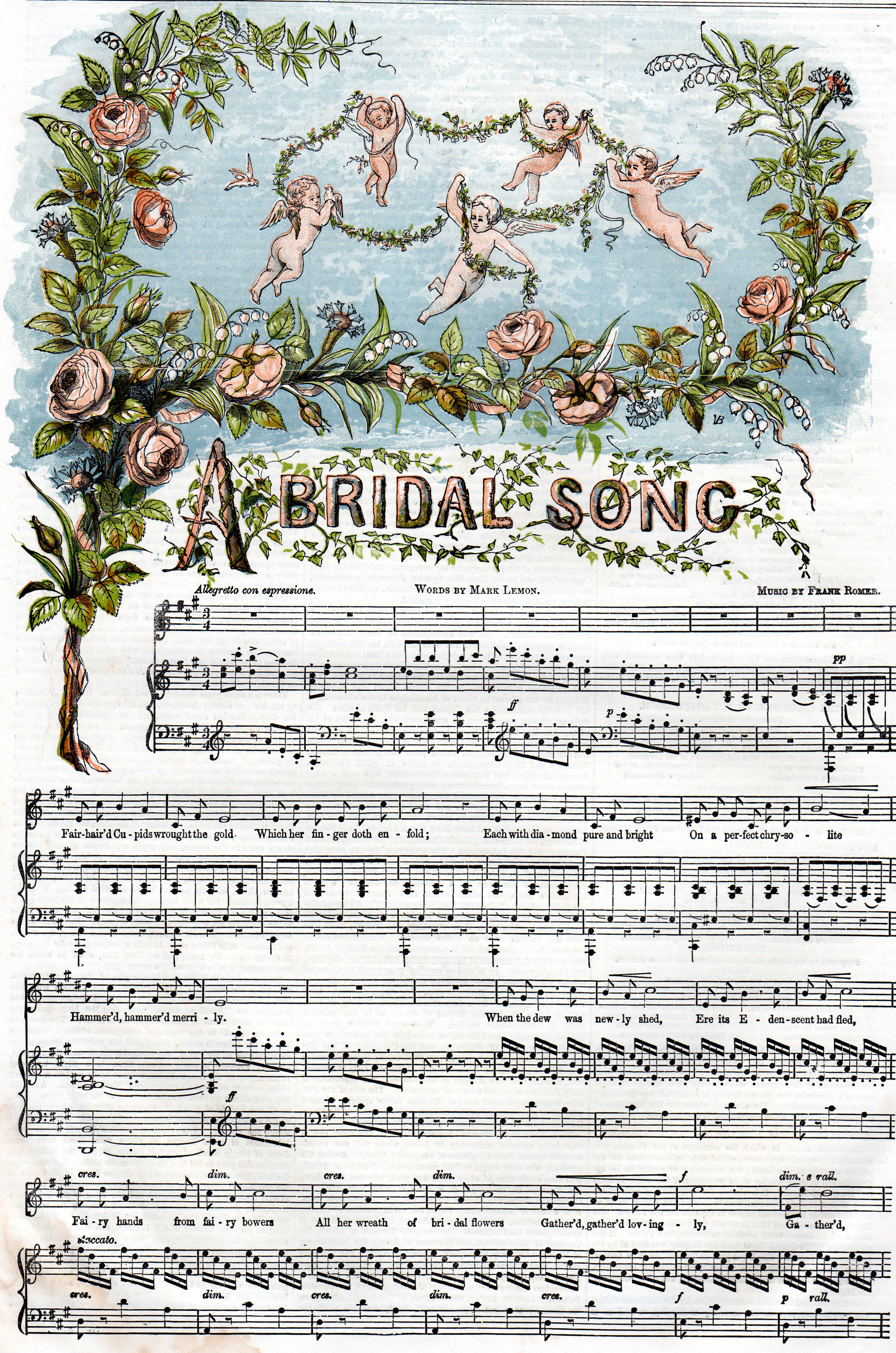 Antique sheet music woodcuts from The Illustrated London News, The Graphic and other 19th-century sources