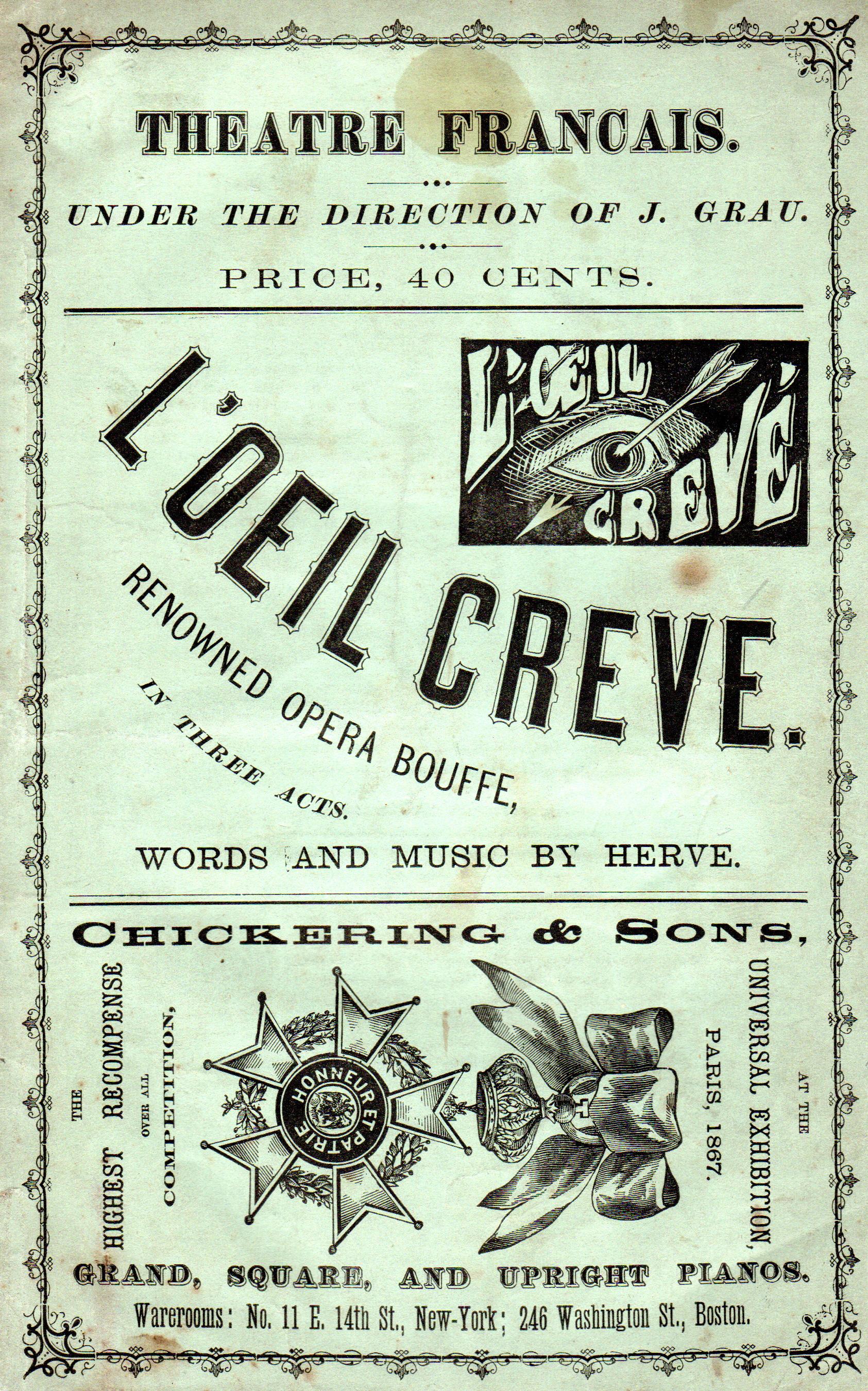 Antique Opera Librettos (1855-1920)
