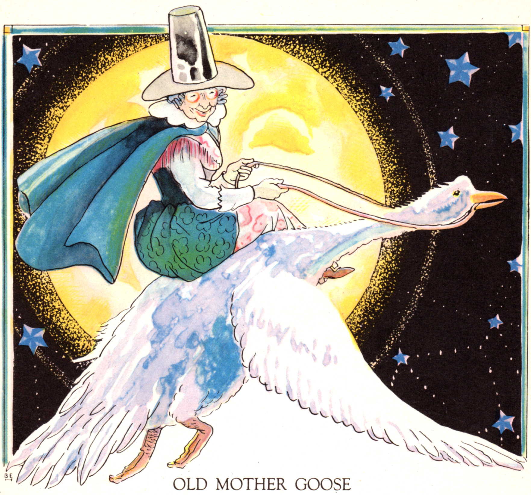 Mother Goose illustrations by Berta Hader (1944)