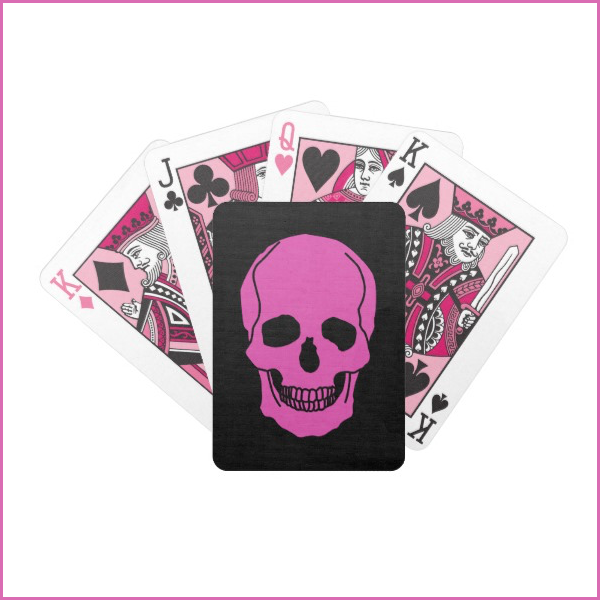 pink skull — bicycle playing cards  get it here:  zazzle