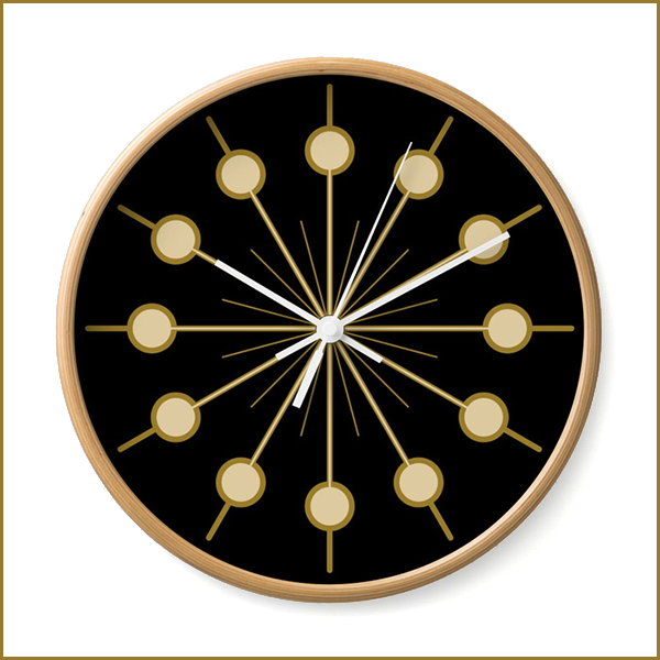 golden circles — wall clock  get it here:  redbubble