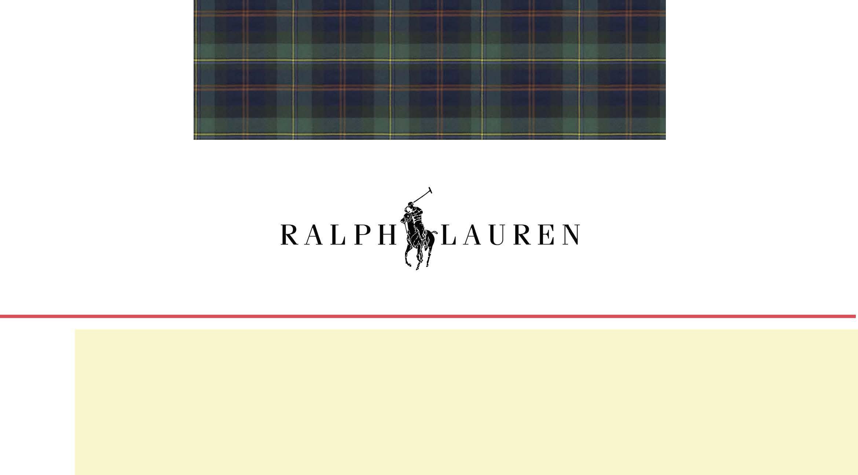 Ralph Lauren 6 Month Buying Plan