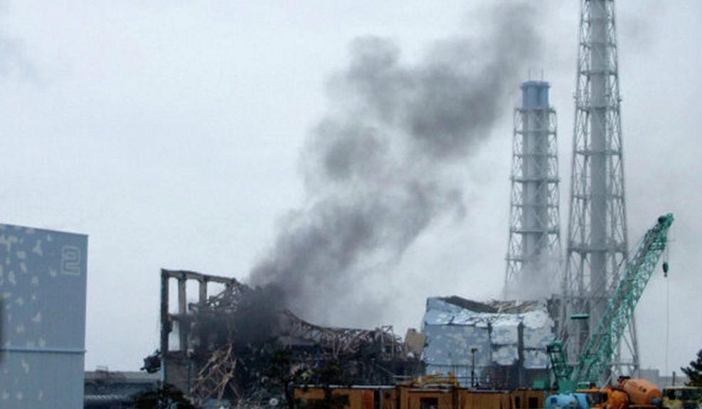 En av de exploderade reaktorerna vid Fukushima.