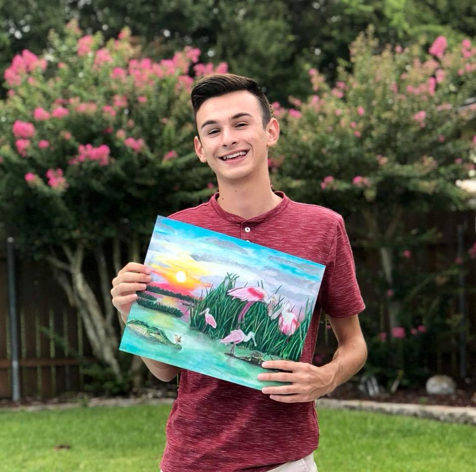 Local Artist - Gage Pacetti   Recent graduate of Delcambre High School & current student of ULL, Gage's talent shines through the art he creates.  Want something created personally for you? Ask! He may just be able to help you!  Click on the links below to view more & purchase if interested!
