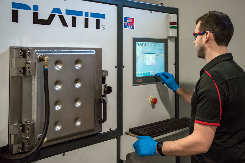 PLATIT's Degasser vaporizes oils and fluids from blind or coolant fed holes after the cleaning process, removes trapped gases from brazed cutting tools, and helps ensure proper coating adhesion.