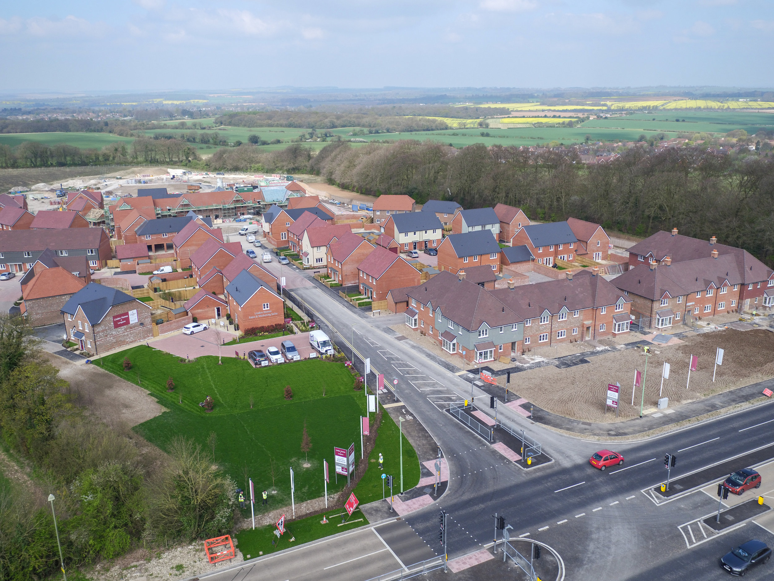 Aerial Drone Construction site uk