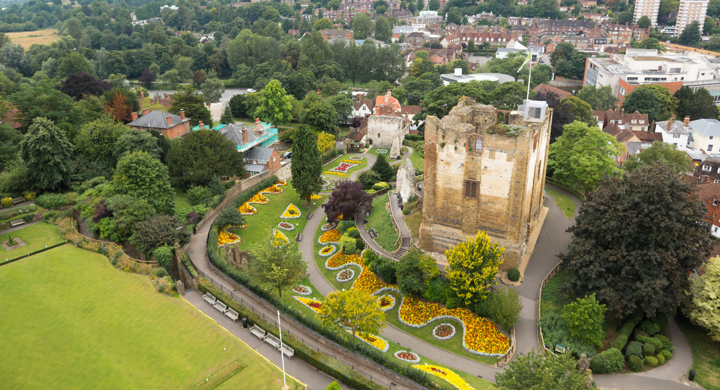 Guildford Castle Drone