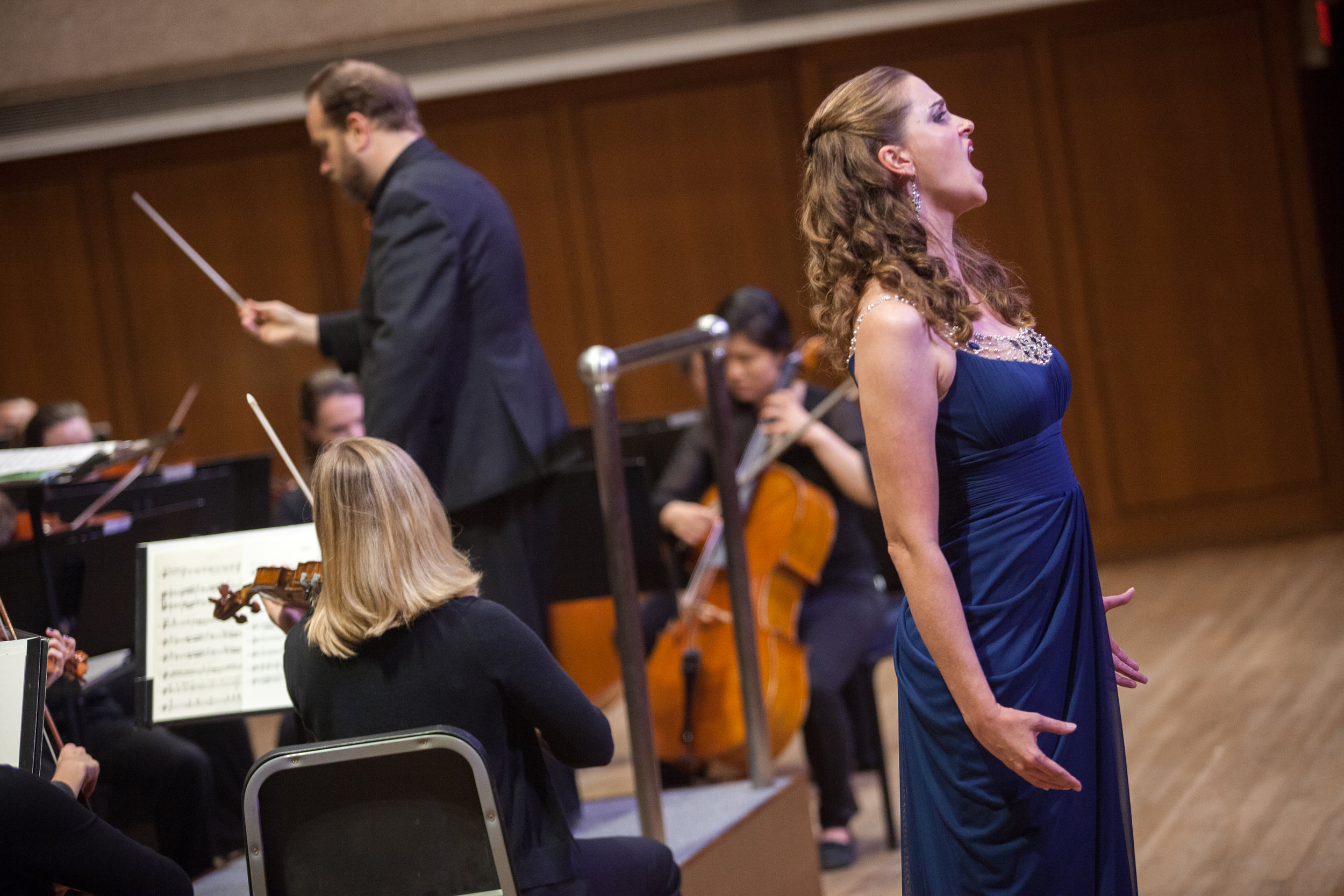 Julia Tyler, soprano with the Round Rock Symphony.