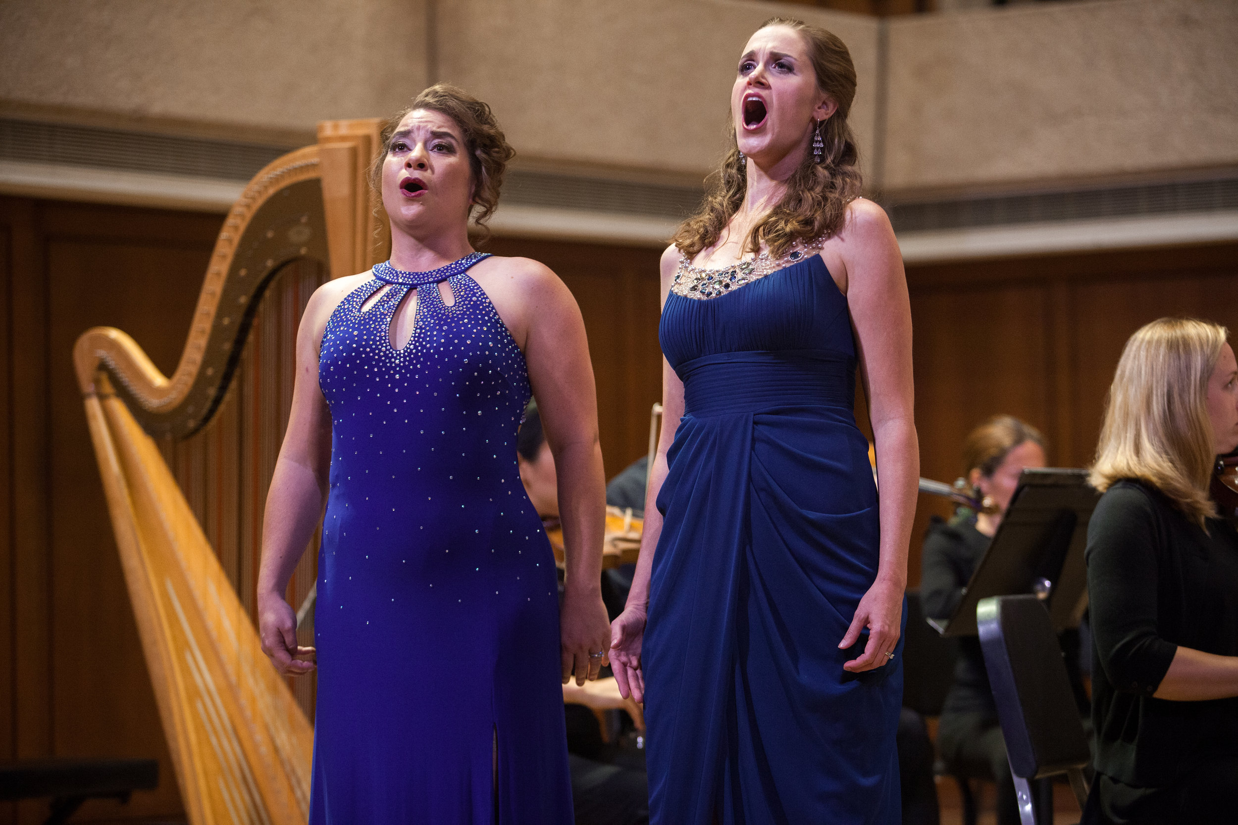 Ellie Jarrett-Shattles, mezzo-soprano, and Julia Taylor, soprano, and the Round Rock Symphony.