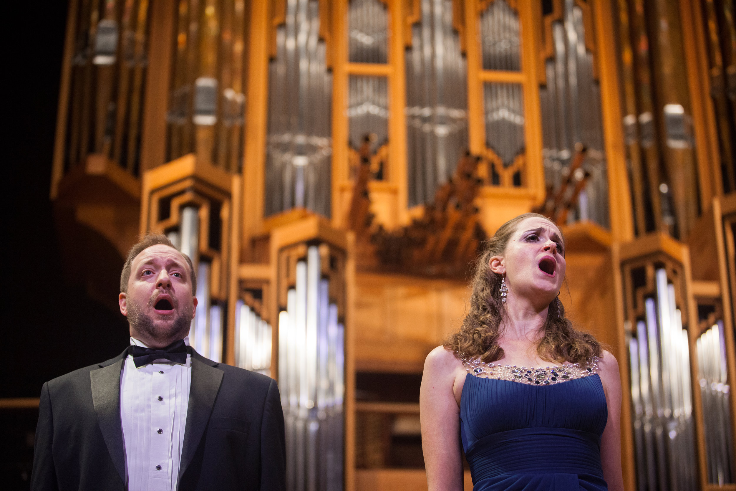Benjamin Cox, baritone, and Julia Taylor, soprano.