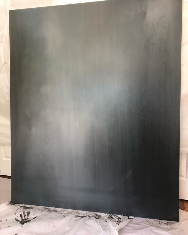 Rain.  Oil+canvas  6ft tall by 5ft wide. Kinda big.