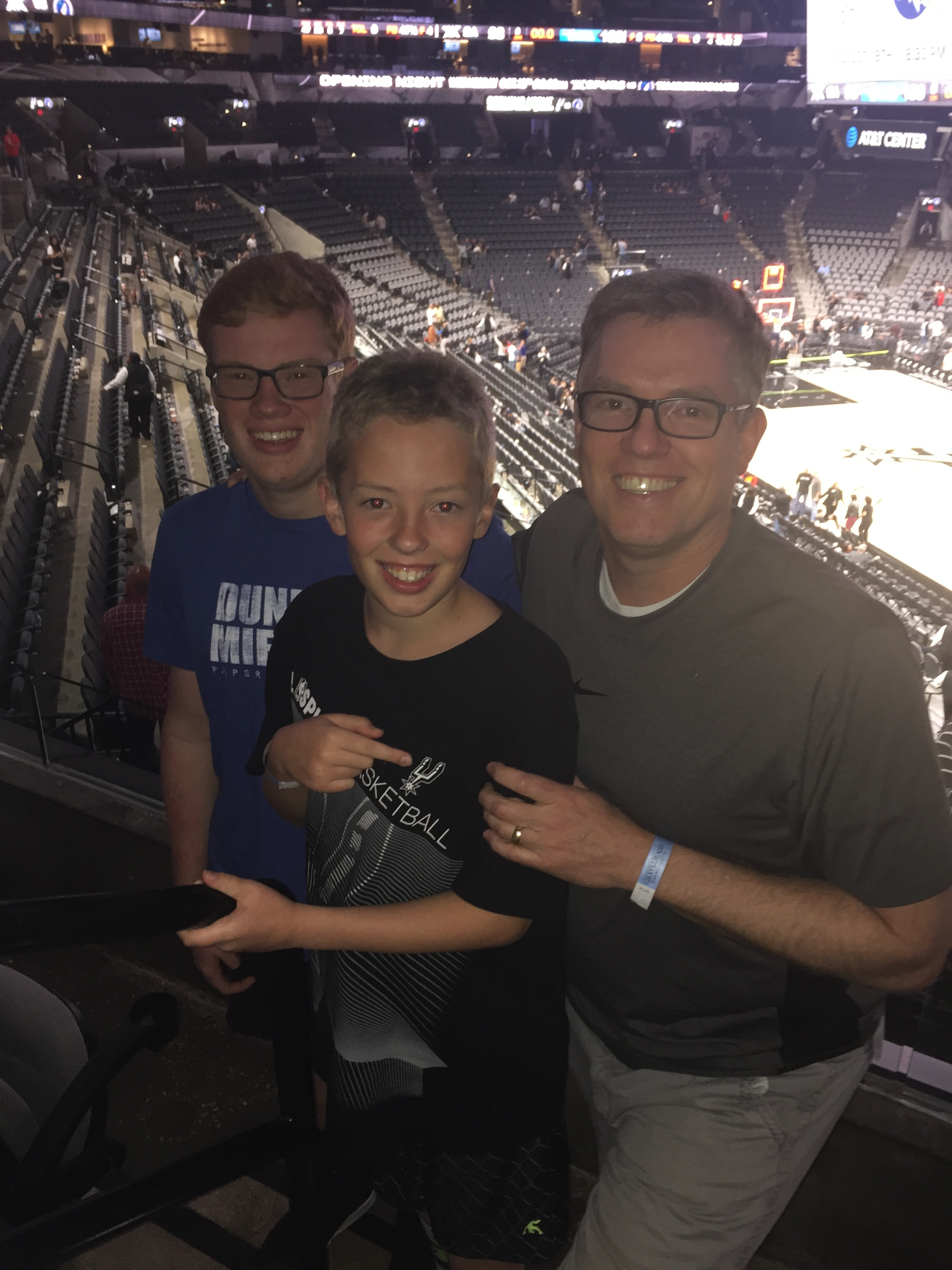 Basketball date for the boys.