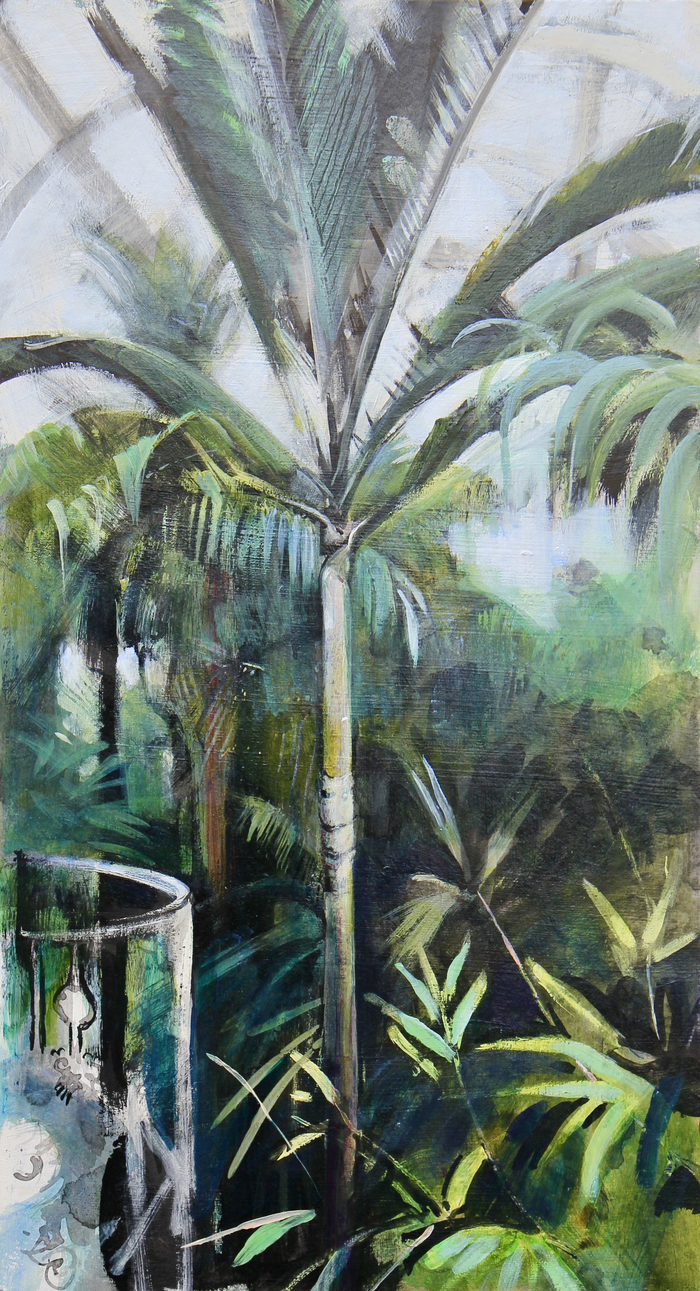 Palm House, Kew - 31 x 56cm, inks and acrylics on board. Framed £575