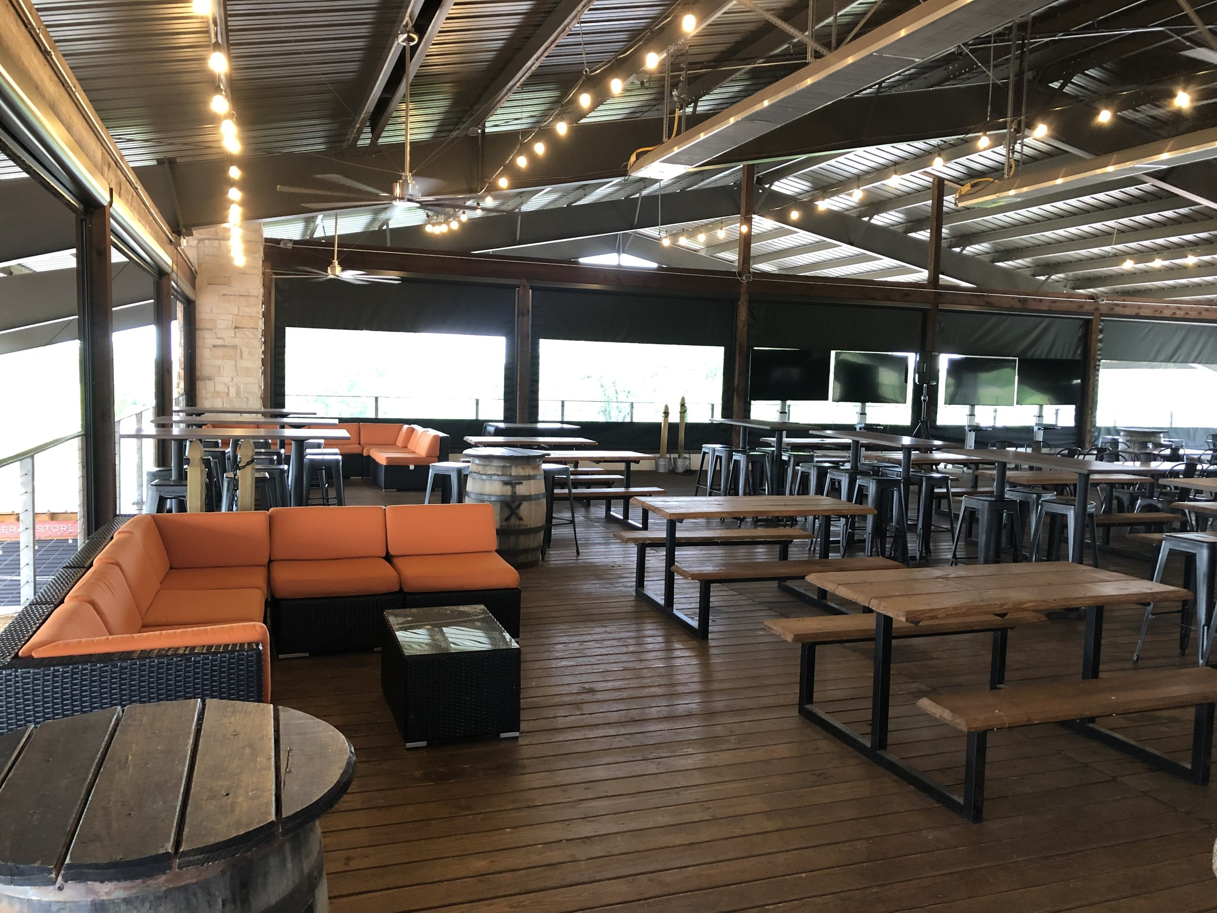 ROOFTOP -NORTHSIDE SECTION- $1500 min. in Food and Beverage - Set up with Sofas, Picnic tables and High Top tables