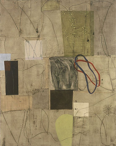 "N, oil, mixed media on canvas, 78"" x 62"", 2002"