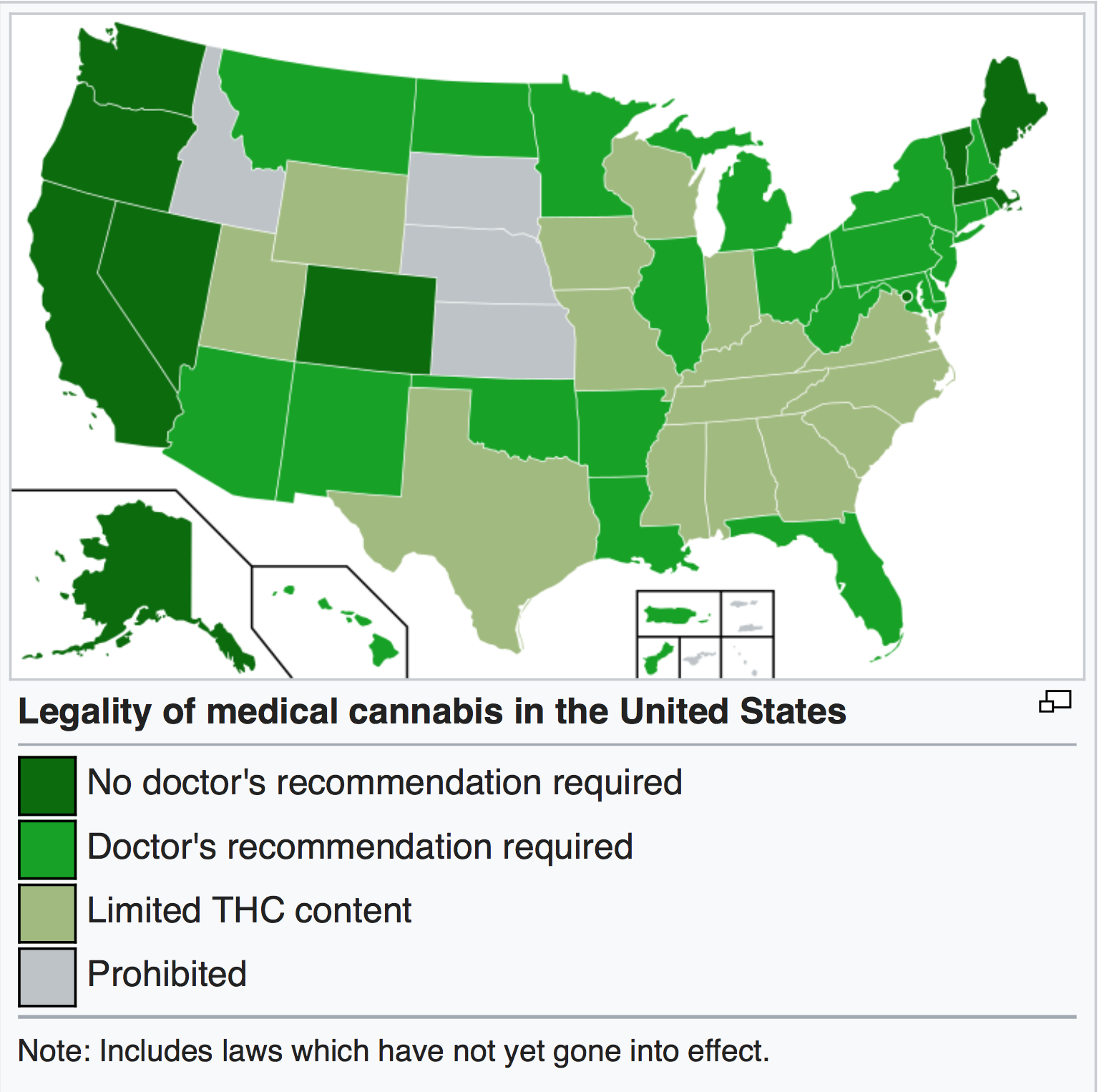 Wikipedia, Medical Cannabis in the United States.