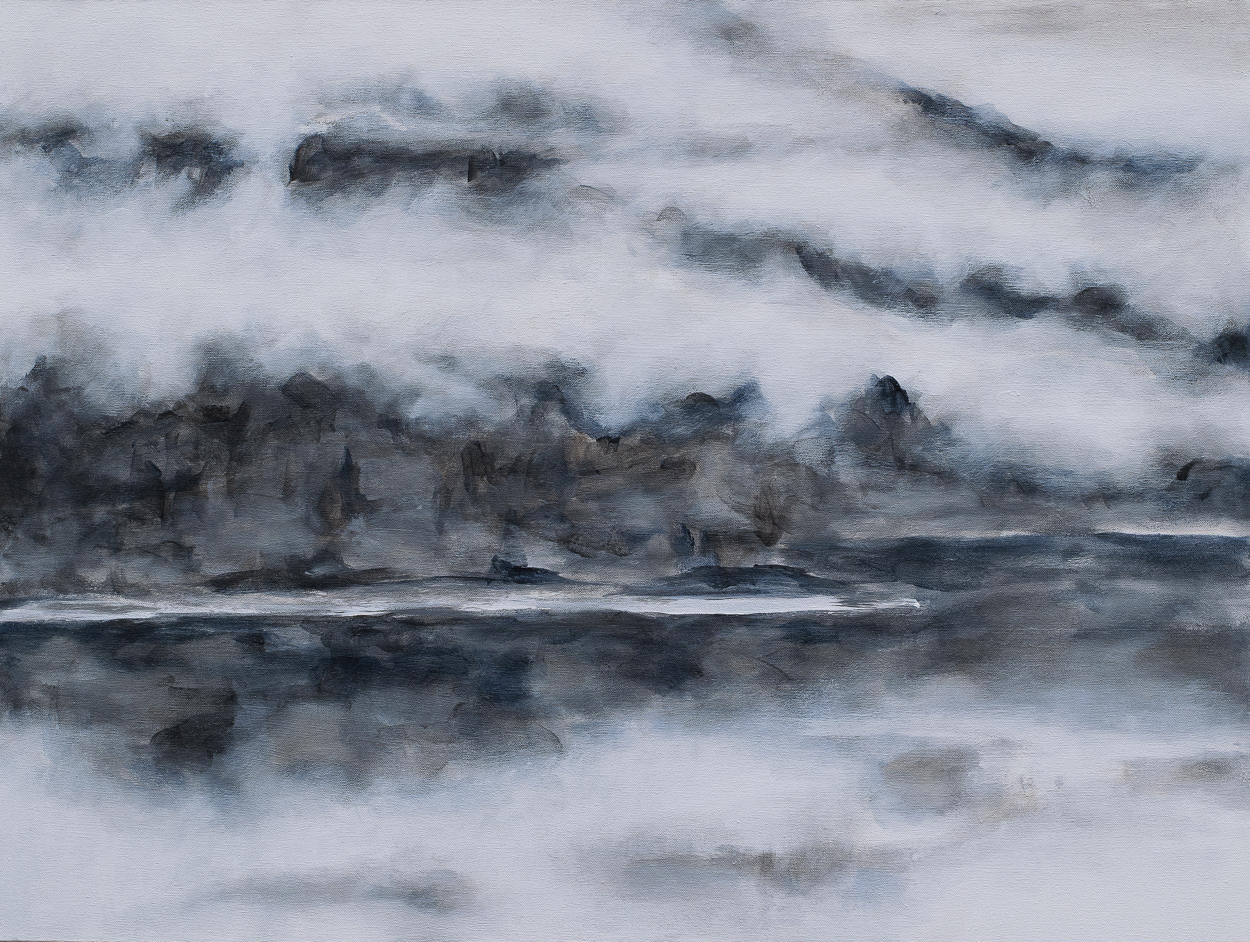 "ELEPHANT MOUNTAIN BLANKET - acrylic on canvas 24"" x 32"""