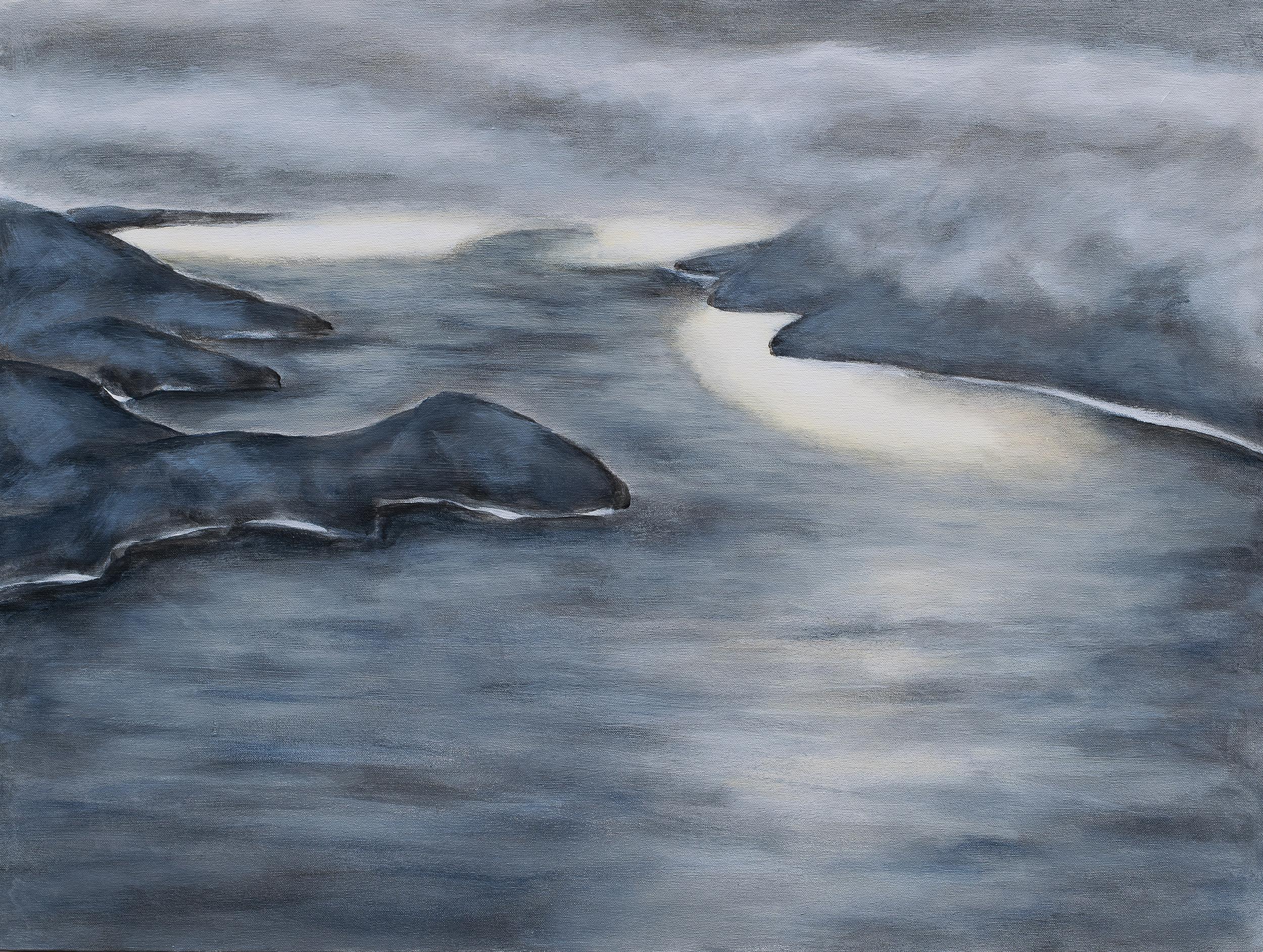 "SHIMMER - acrylic on canvas 24"" x 32"""