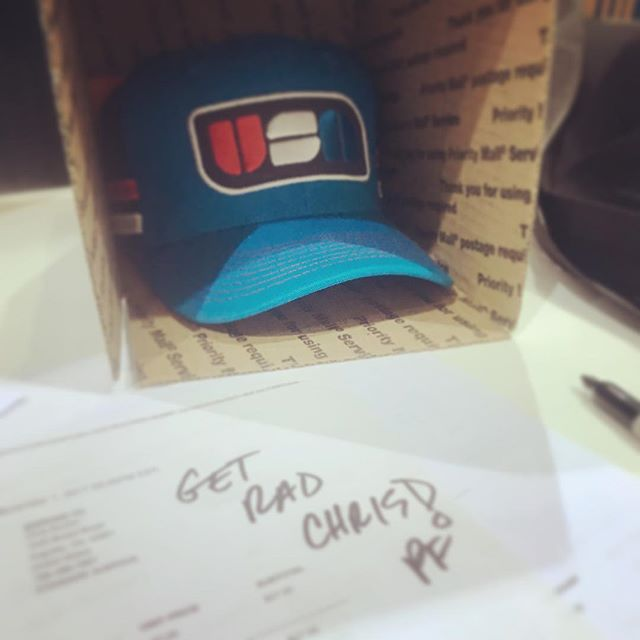 After a couple chaotic weather days we are shipping out the first orders of #radness ! #getrad #truckyeah #truckerhat #usa