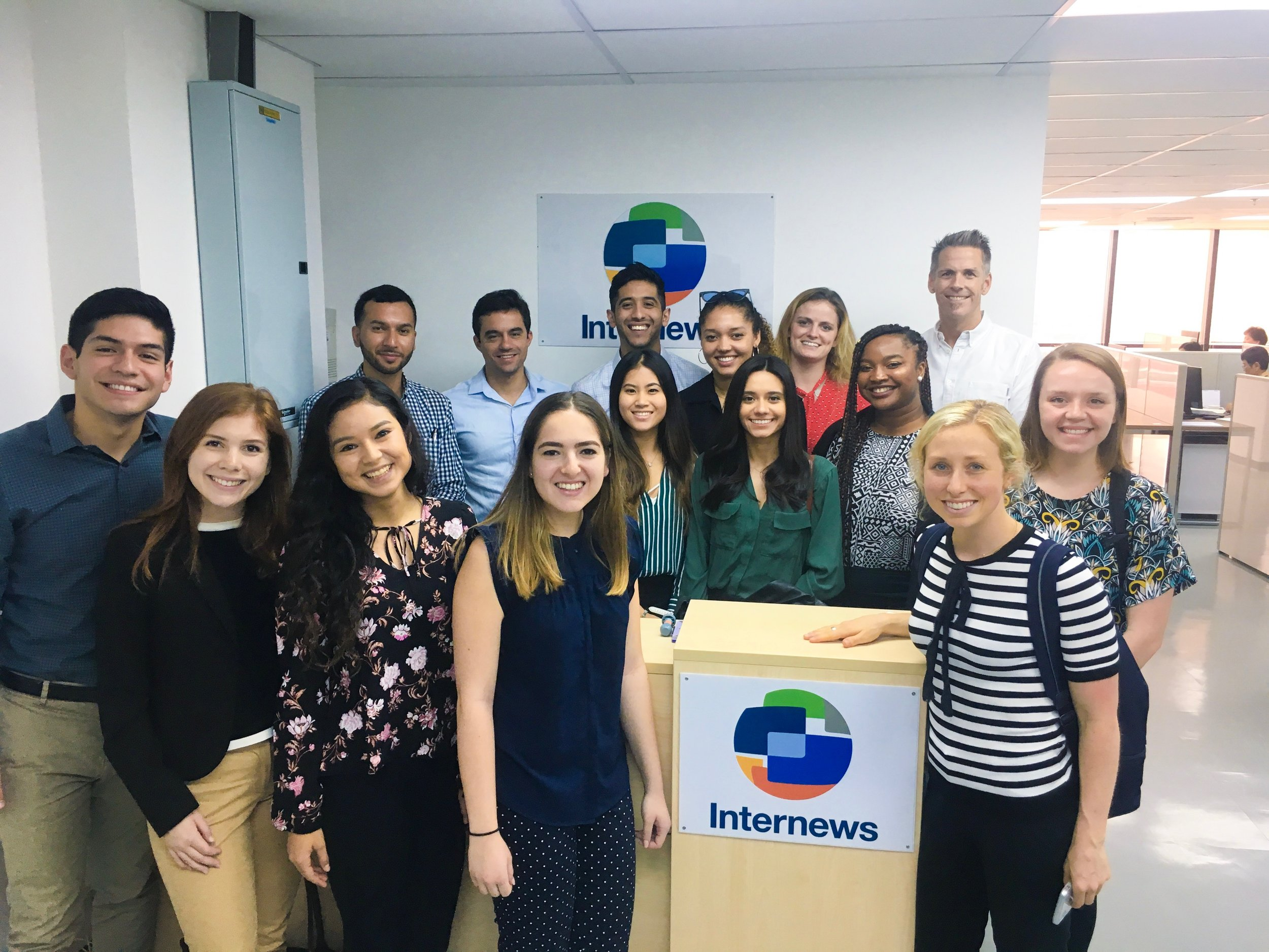 USC Annenberg students with Brian Hanley at Internews - Bangkok, Thailand.