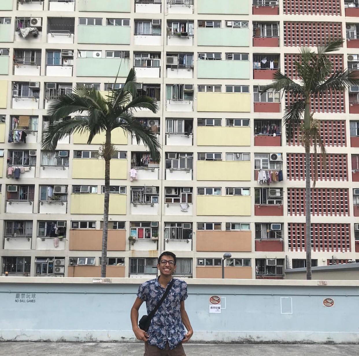 Our student- Saman doing his Spring 2019 at Hong Kong