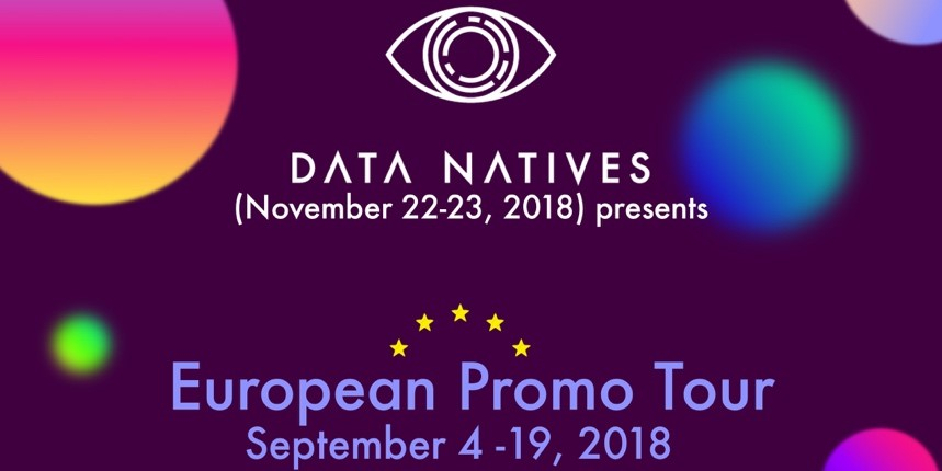 2. A banner I designed for my organization's European conference this year. This was used on all Data Natives Meet Up sites and Facebook. A simple design meant to convey essential information in a colorful way. I was guided on this project by my company's creative content lead.
