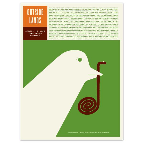 Outside Lands Music Festival Screen Print designed by Jason Munn.