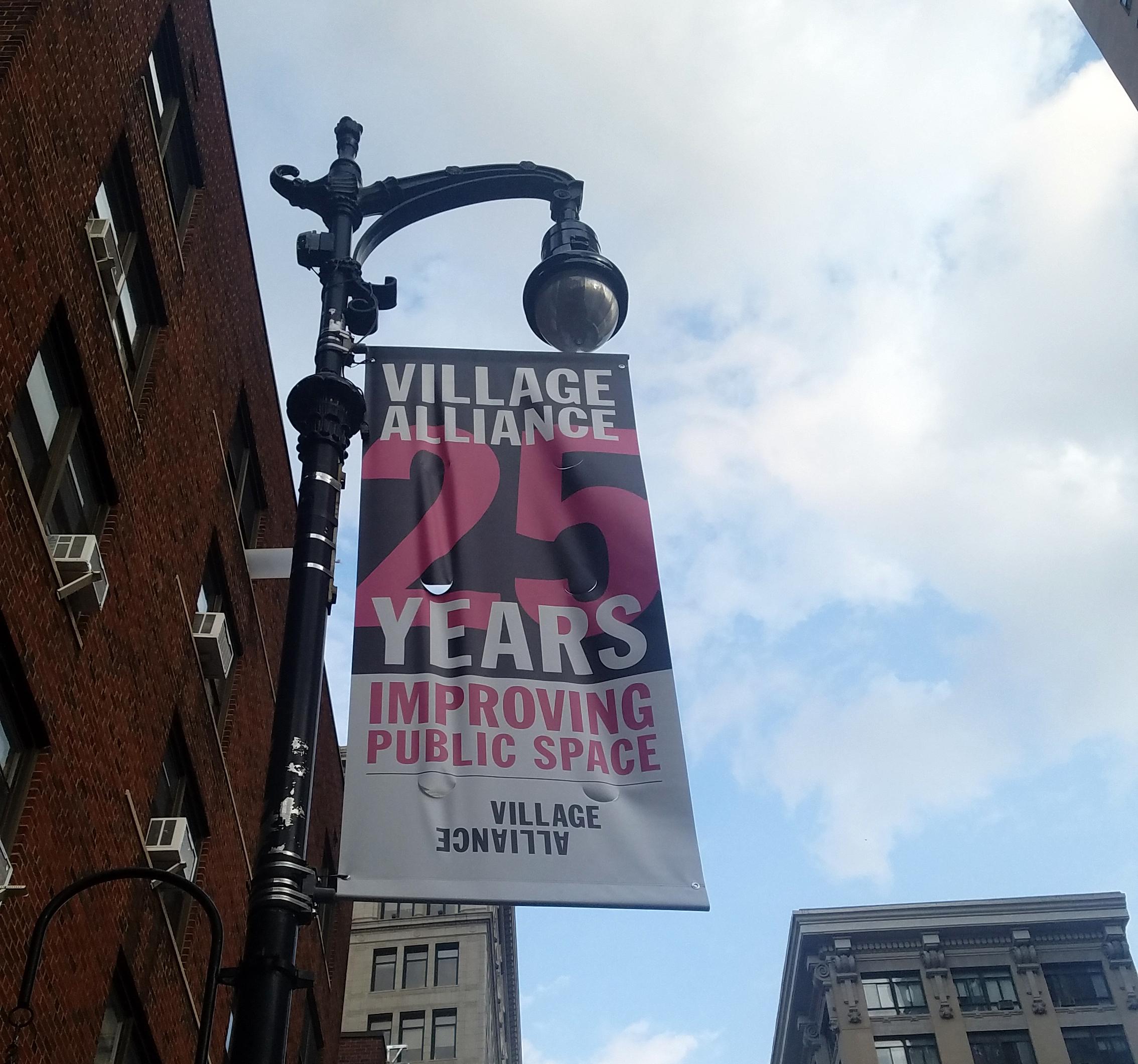 Village Alliance sign