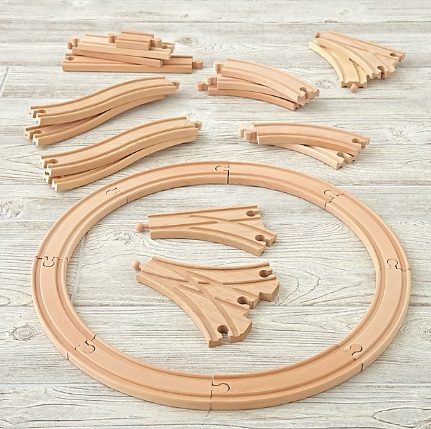 Wooden train track example