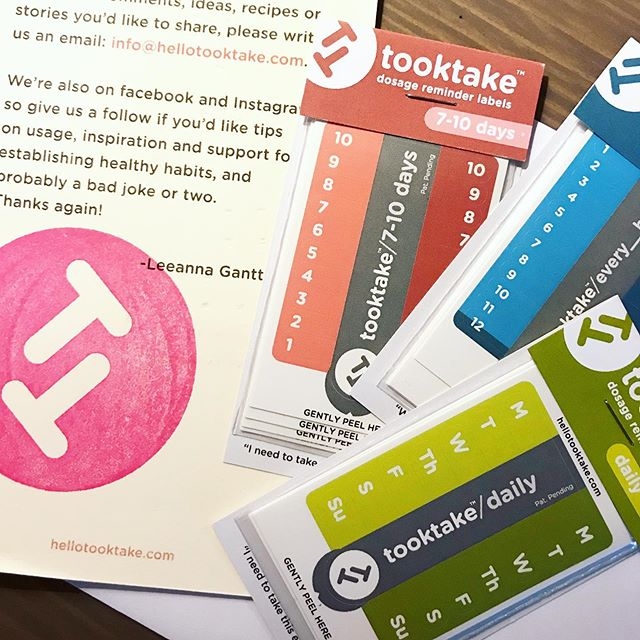 @hellotooktake labels are my new favorite thing. Such a great idea created by a breast cancer survivor to keep your medications organized and on schedule. More info in my stories! I can't believe how many amazing products there are out there created by members of the cancer community. I'm going to share some my favorites, so send me yours! I would love to learn about them. There's a coupon code in the @hellotooktake Instagram bio, so go try them out!